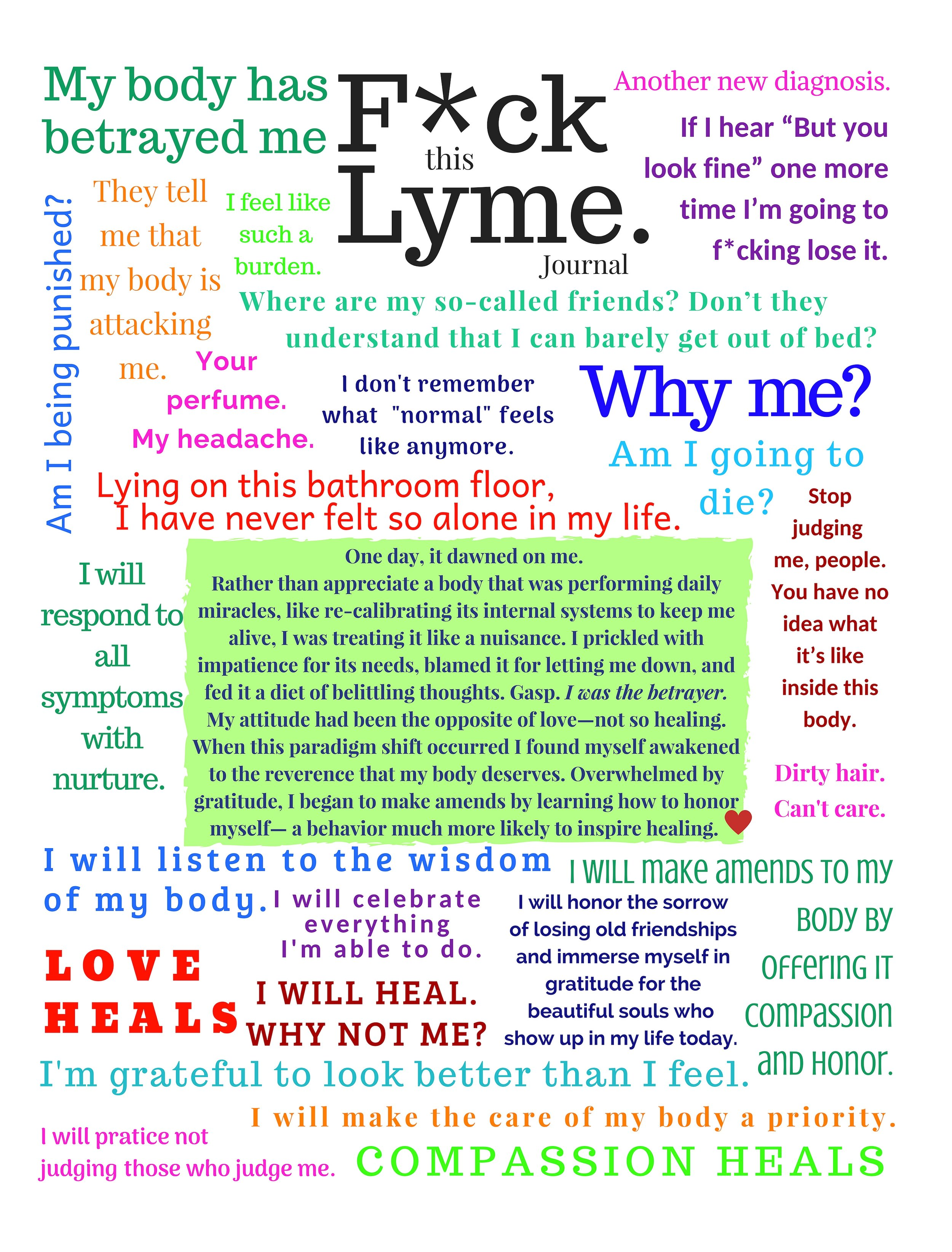 Fuck Lyme, F*ck Lyme Journal by Kimberly Ahri