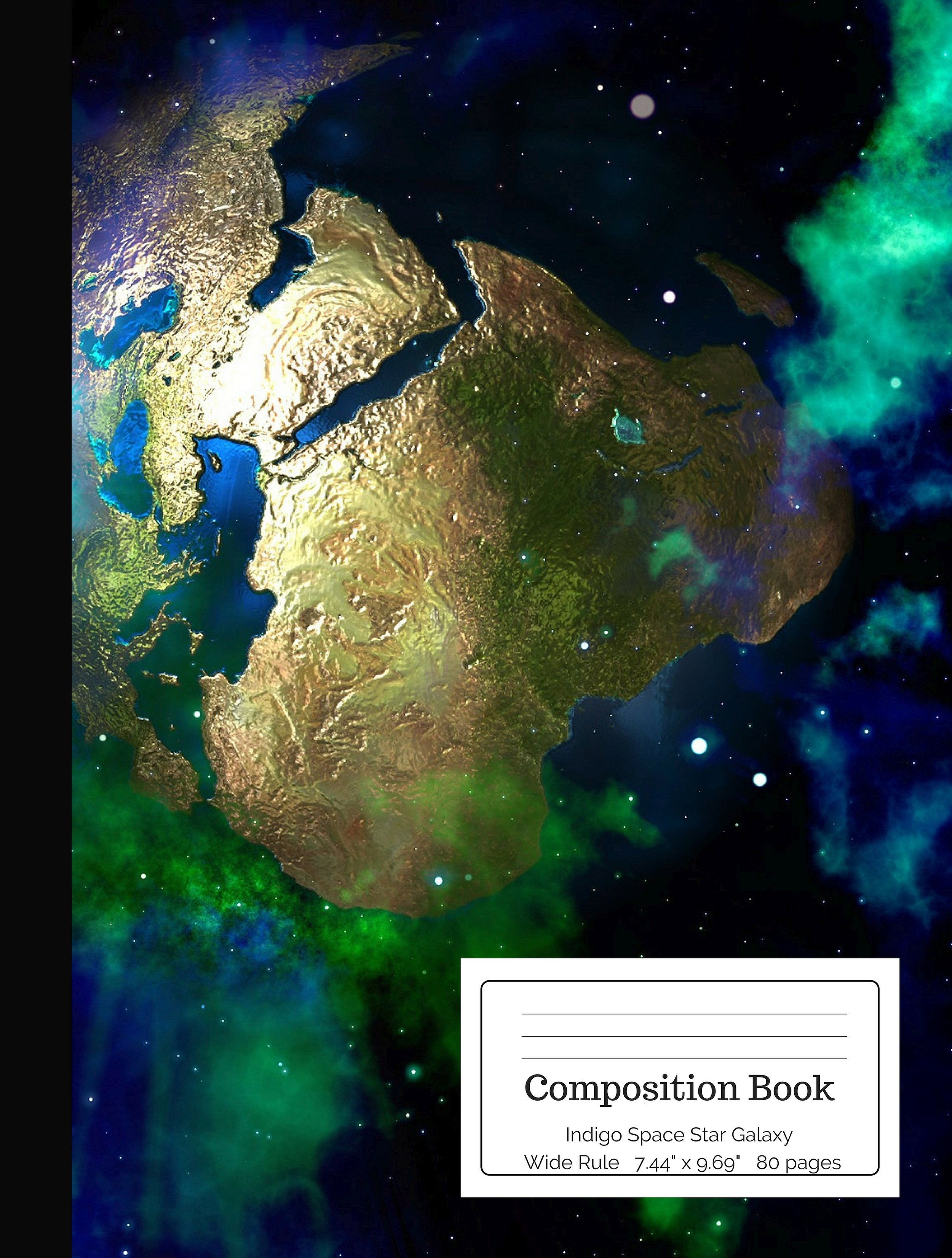 Indigo Space Star Galaxy Composition Book