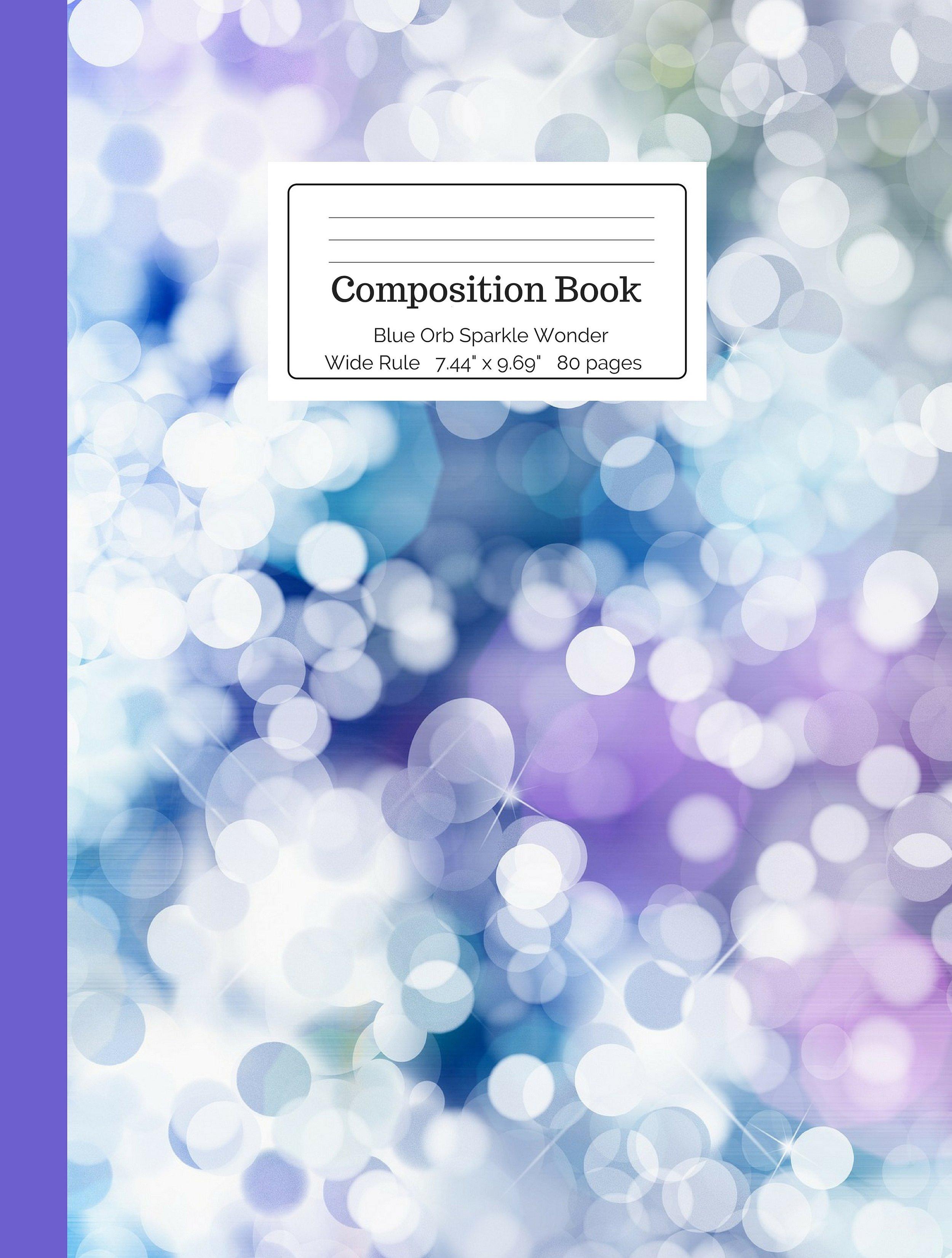 Blue Orb Sparkle Wonder Composition Book