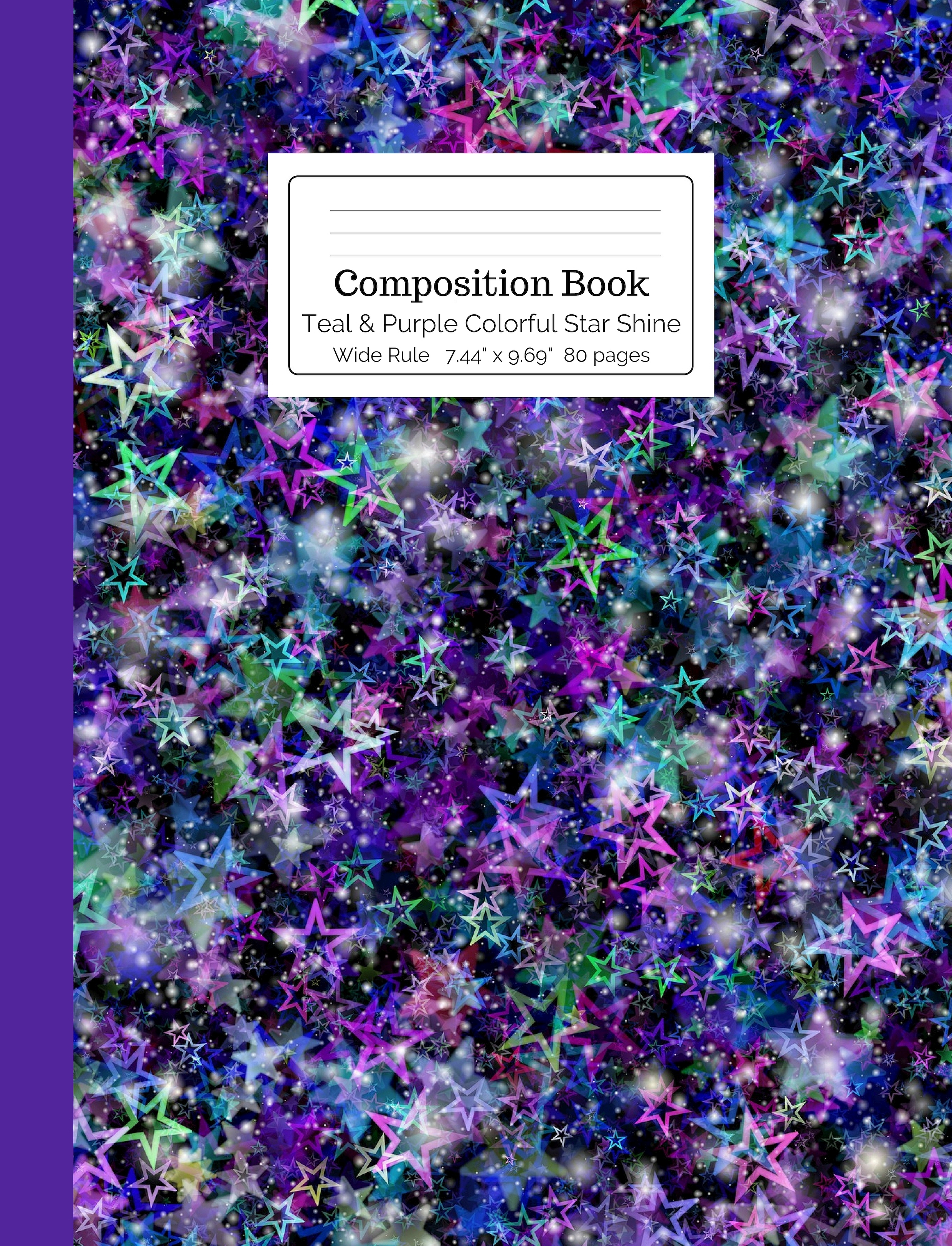 Teal & Purple Colorful Star Shine Composition
