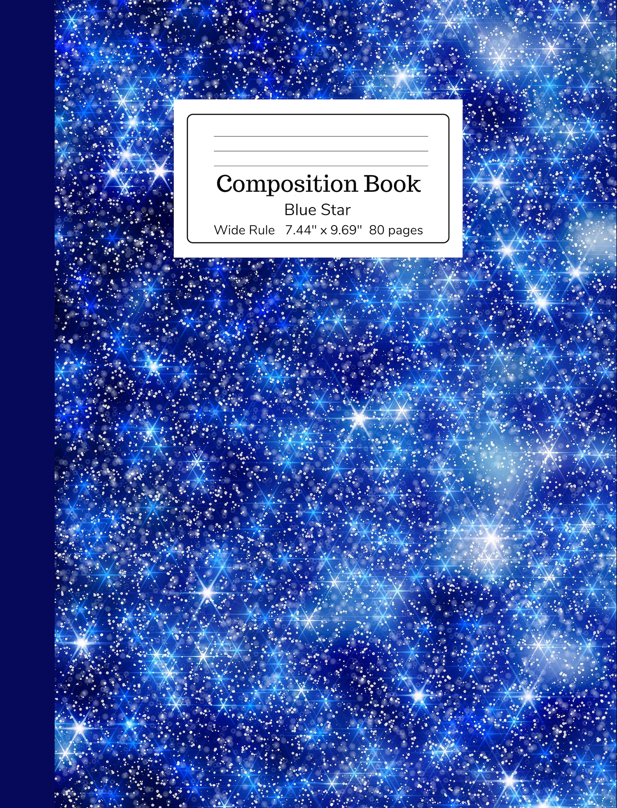 Blue Star Composition Book