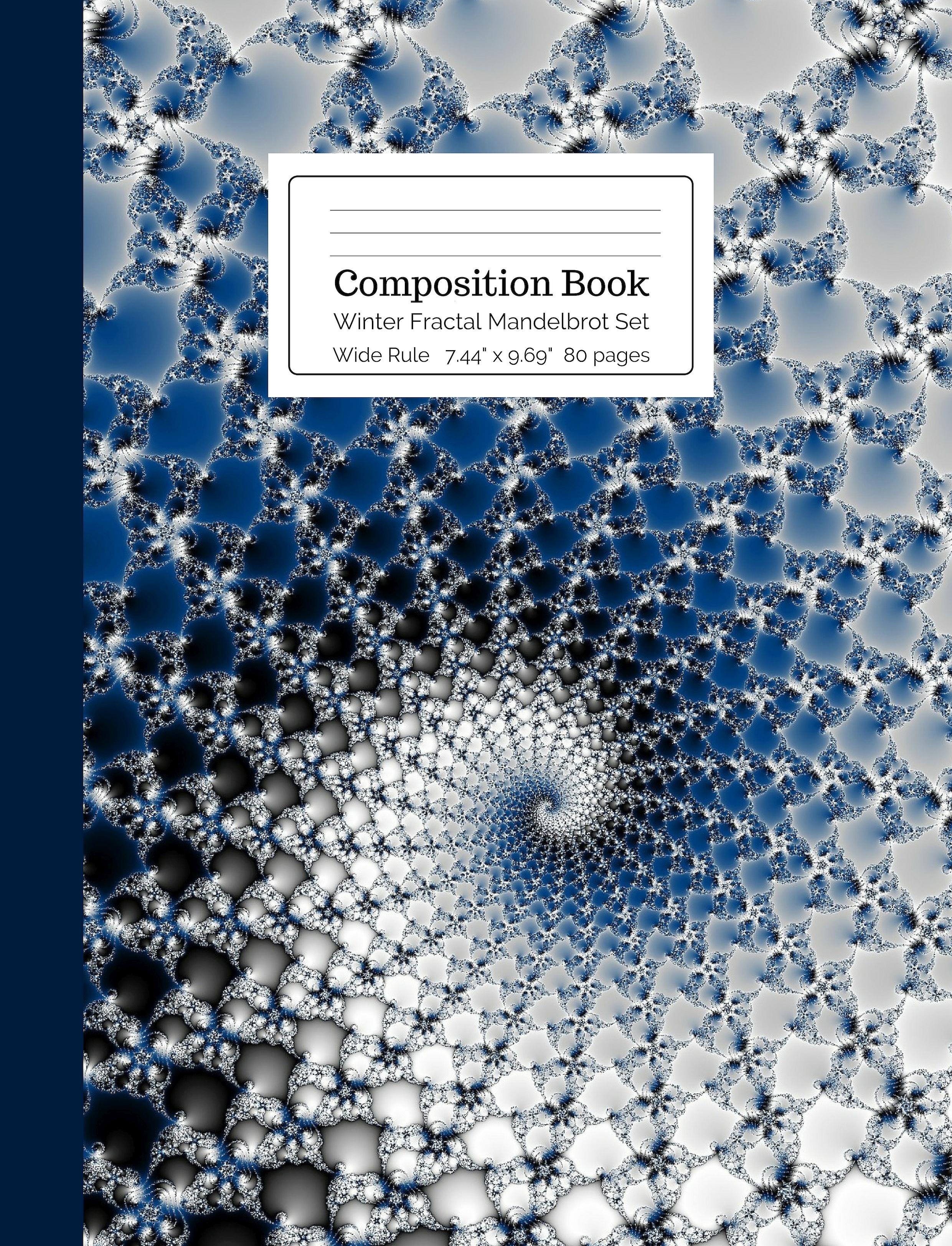 Winter Fractal Mandelbrot Set Composition Book