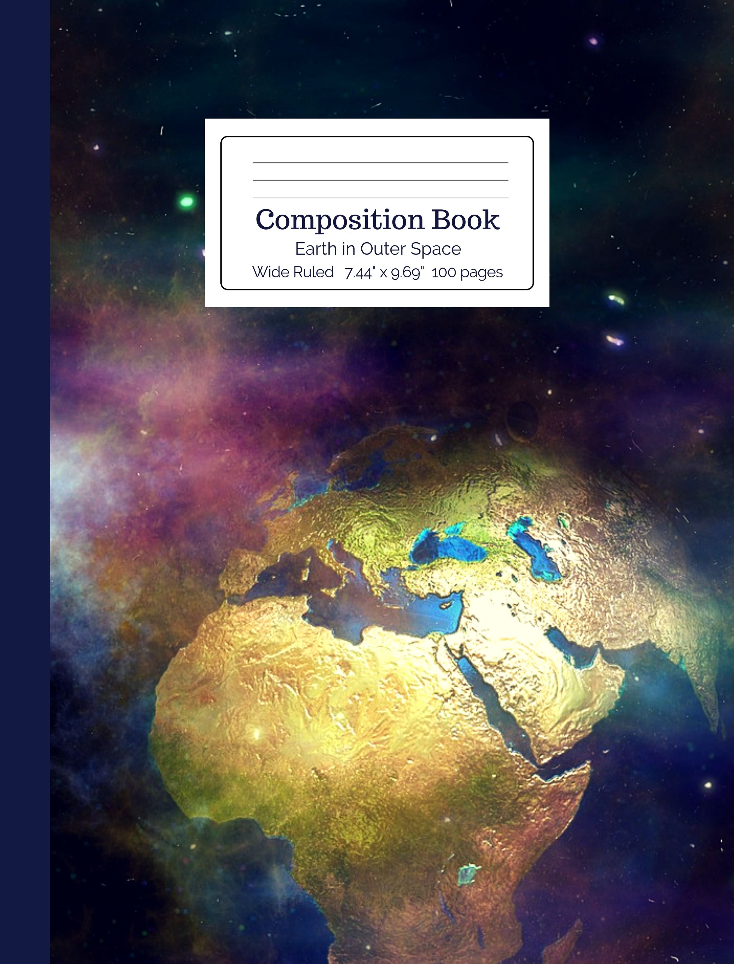 Earth in Outer Space Composition Book