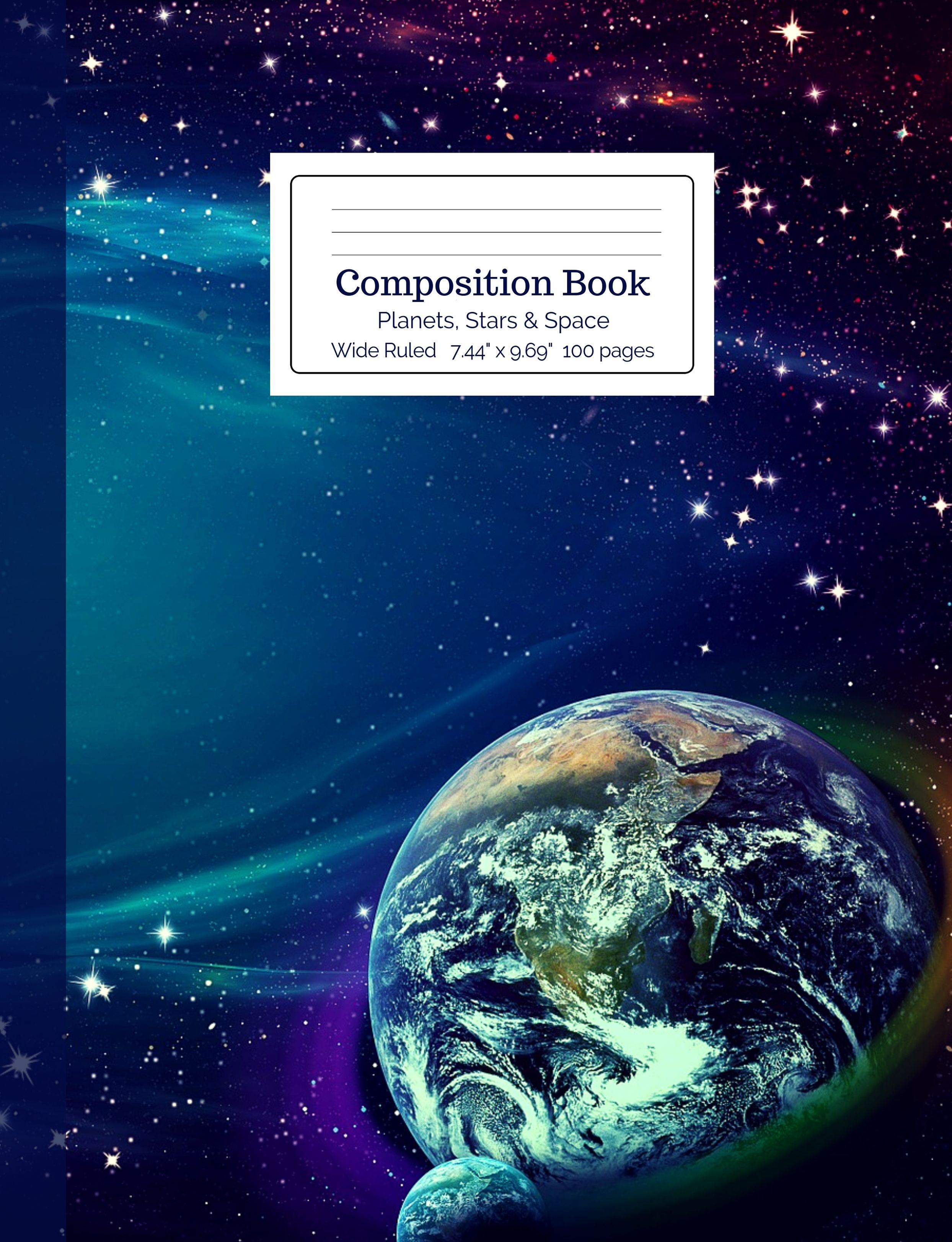 Planets, Stars and Space Composition Book