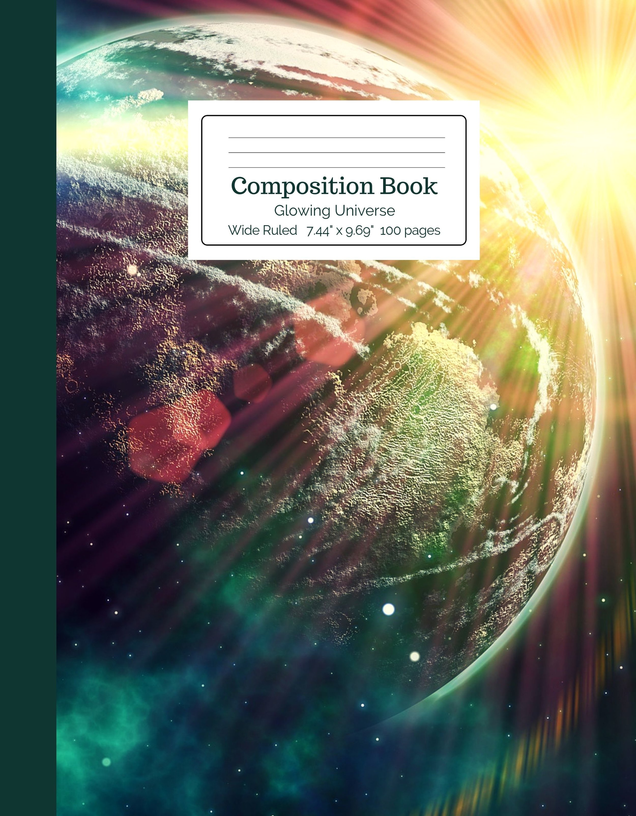 Glowing Universe Composition Book