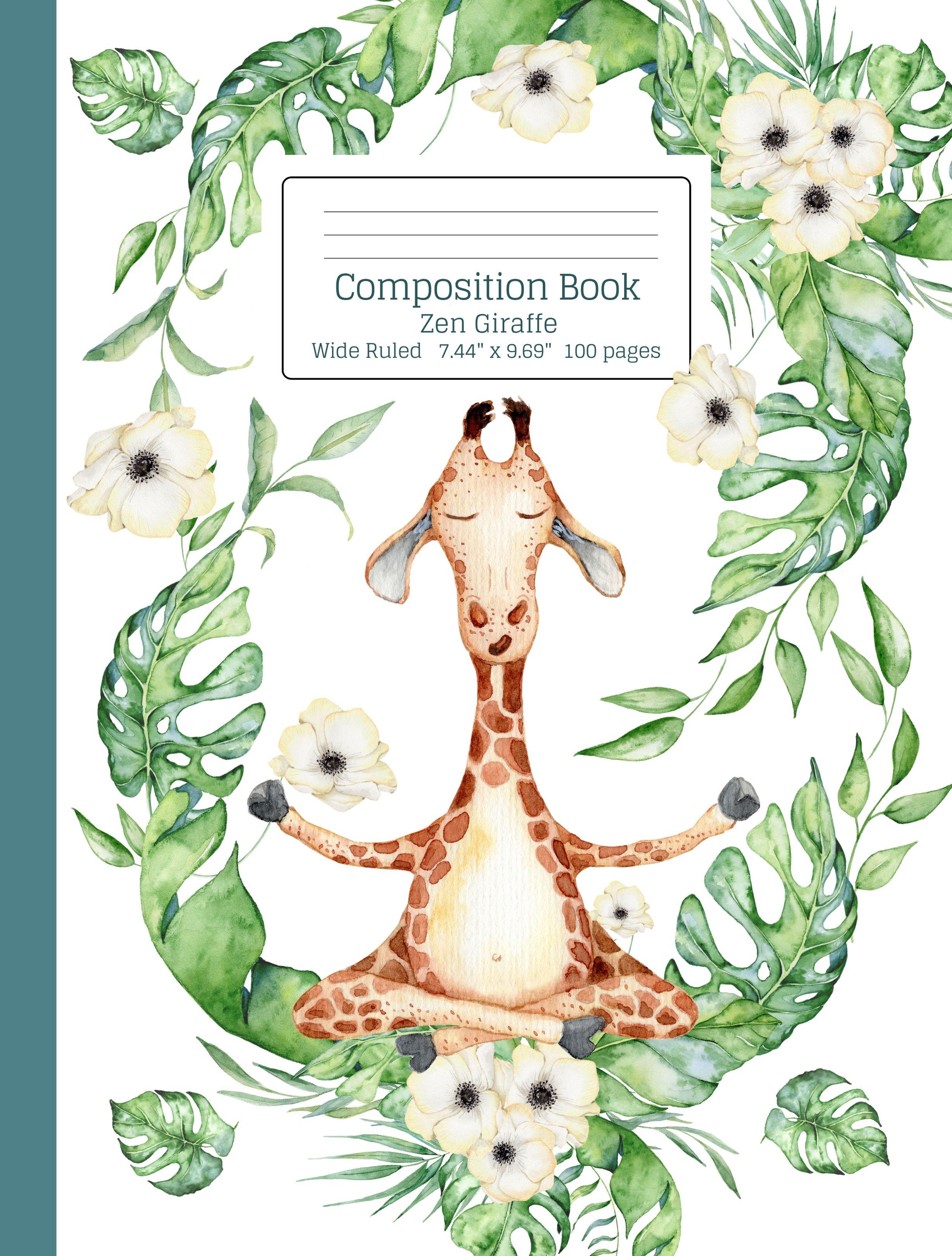 Zen Meditation Giraffe Composition Book