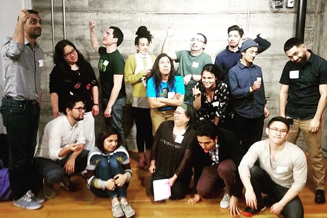 """Pose like you're riding on public transportation."" 😹 🎭Thanks to all who attended our free monthly workshop last night! The workshops continue in April at the very BART-accessible CounterPulse 🚋 . . . #UntoldImprov #ImprovForPOC #POCImprov #Improv #ImprovBayArea #BayArea #Comedy #Theater #RepresentatioMatters"