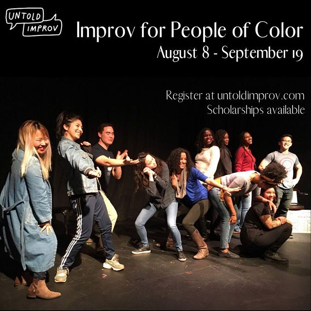 🗣HEY San Franciscoooooo!🗣We're back with our 5th installment of Improv for People of Color.✨Register and learn about finding joy in uncertainty, embracing failure, and trying things before you feel ready.😯The only requirements are that you are a living, breathing human. You ARE ready!💯Tell all your self-identified PoC folks! . #UntoldImprov #ImprovForPOC #POCImprov #PeopleOfColor #BayArea #Improv #ImprovBayArea #SanFrancisco #ImprovComedy #Comedy #Theater #Drama #Art #Theatre #SafehouseForTheArts #Joy #Storytelling