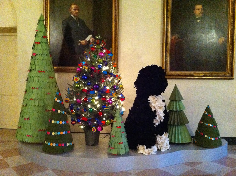 White House Christmas 2011-2014 paper & felt trees