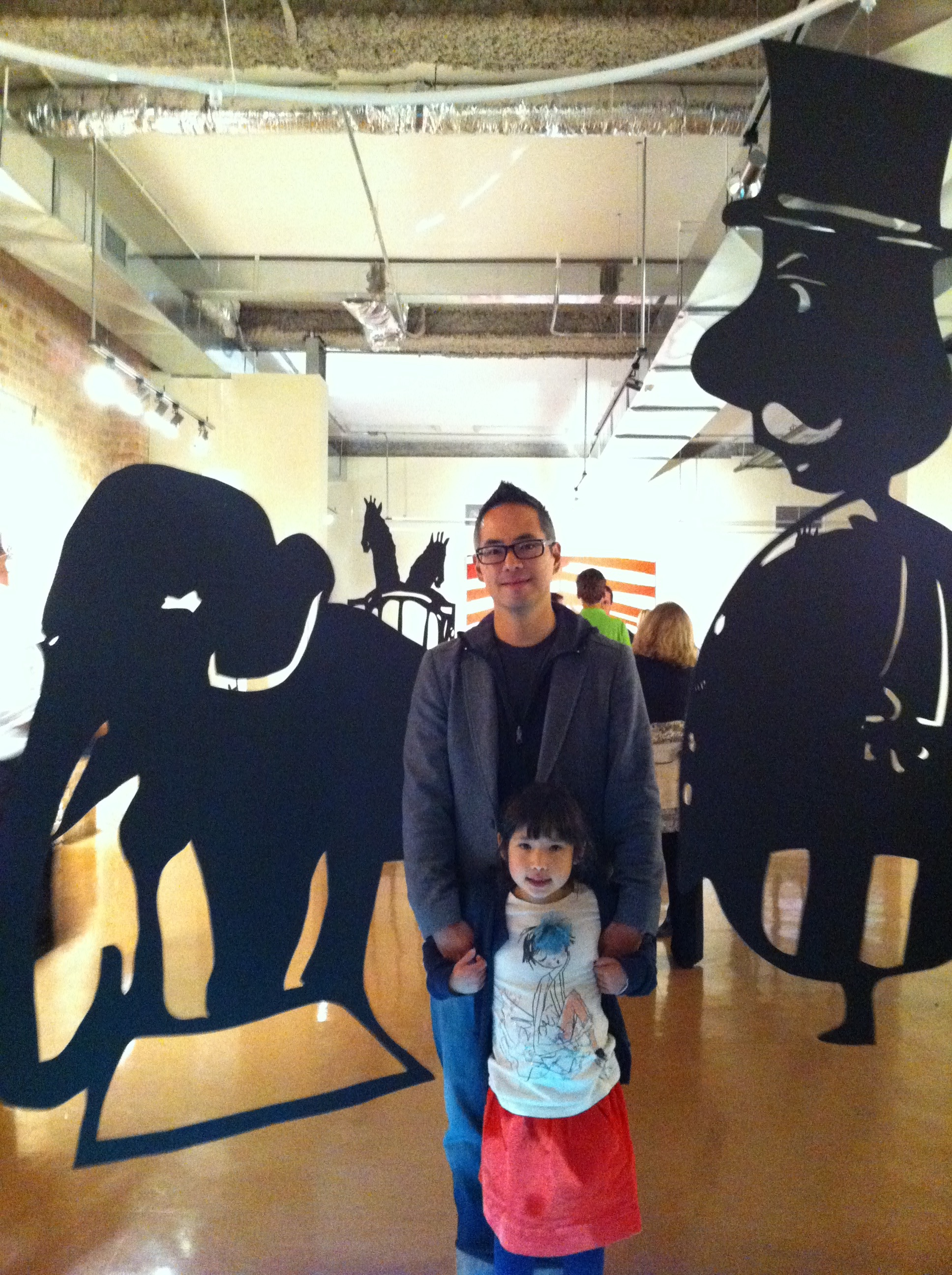 large scale cut outs of kids art