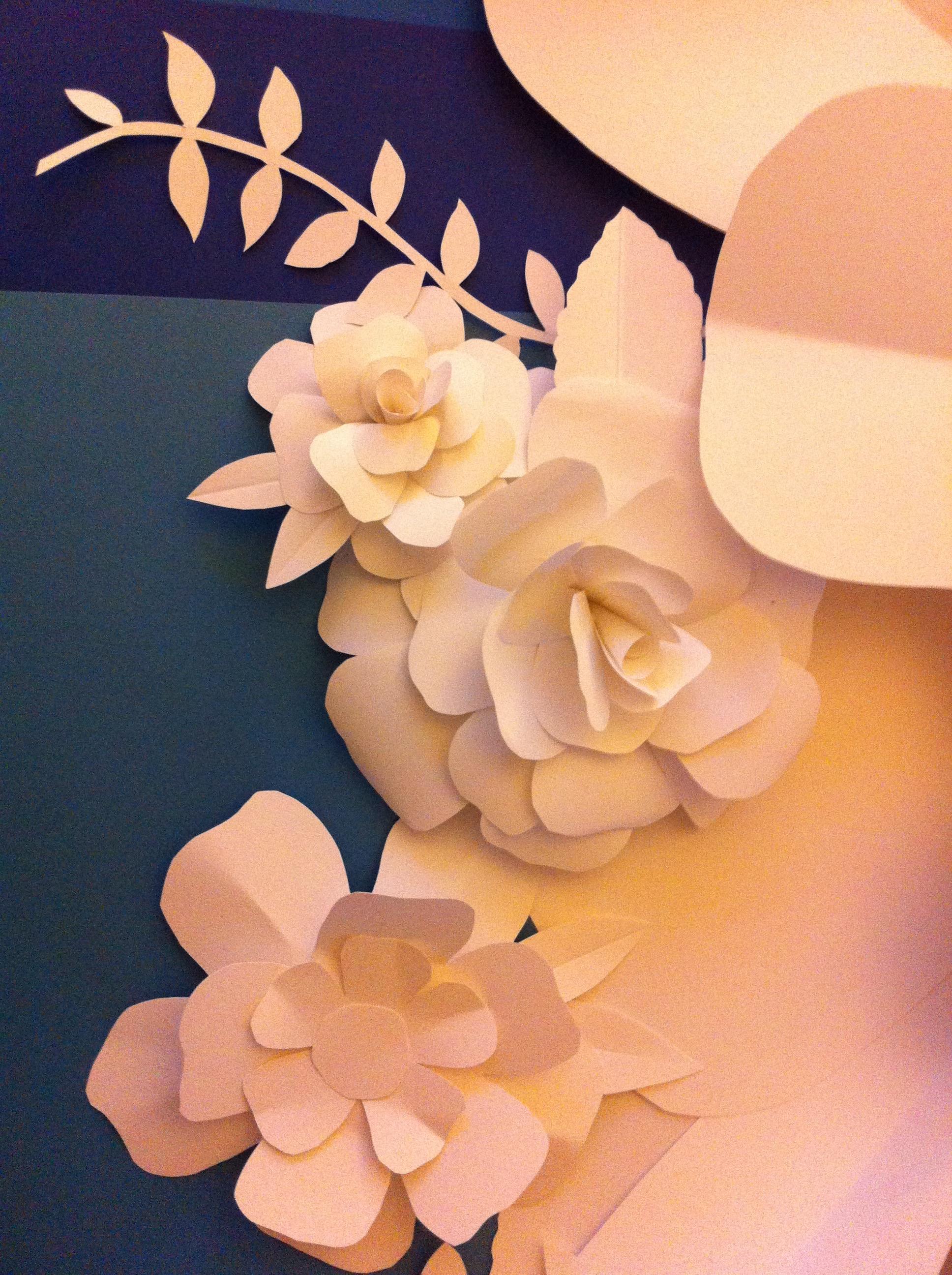 handmade floral backdrop