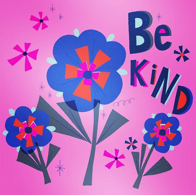 Happy Monday! #bekind #beaniceperson #flowerart #happyart #letterspaceprints #etsyseller #etsyshop