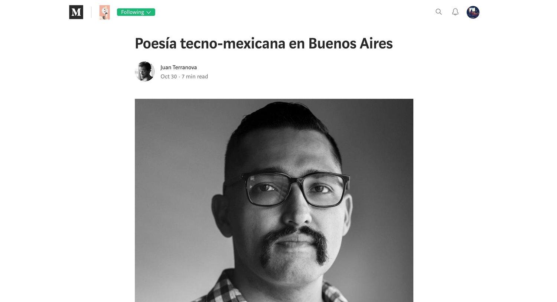 entrevista en CHICAS - por Juan Terranova