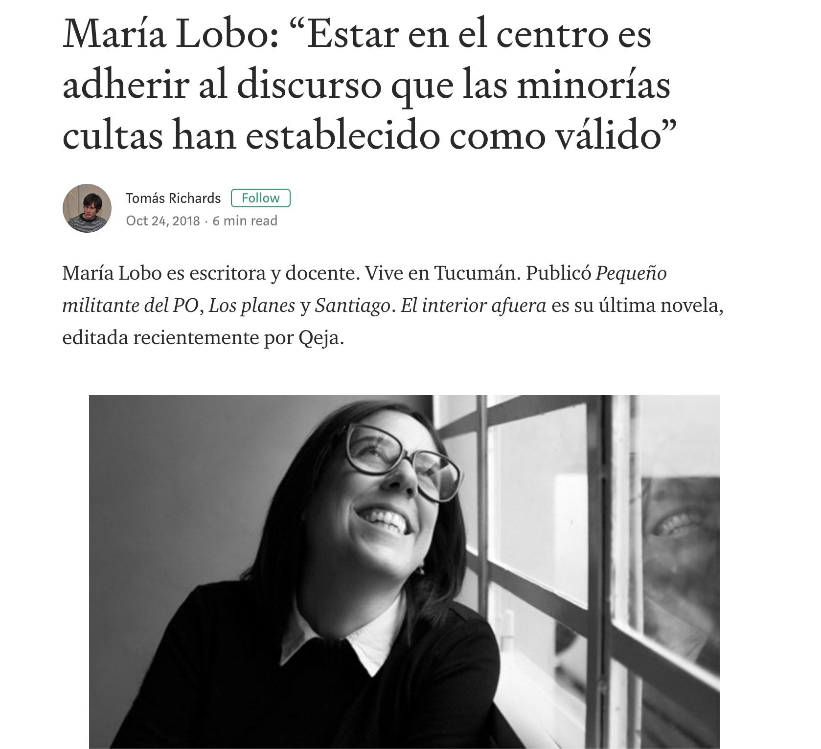 María Lobo en CHICAS - por Tomás Richards