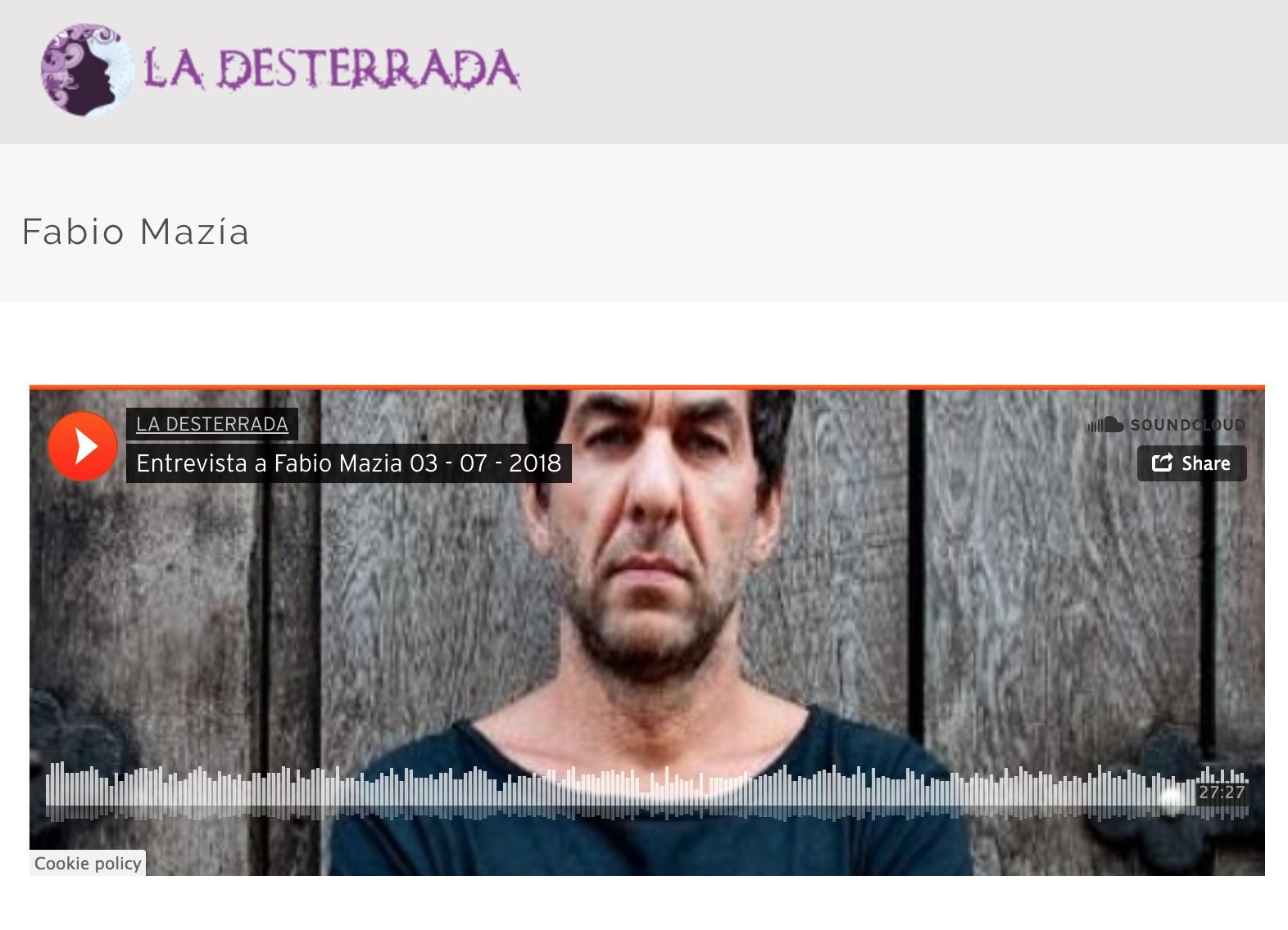 Entrevista en La Desterrada - por Mariano Castagneto