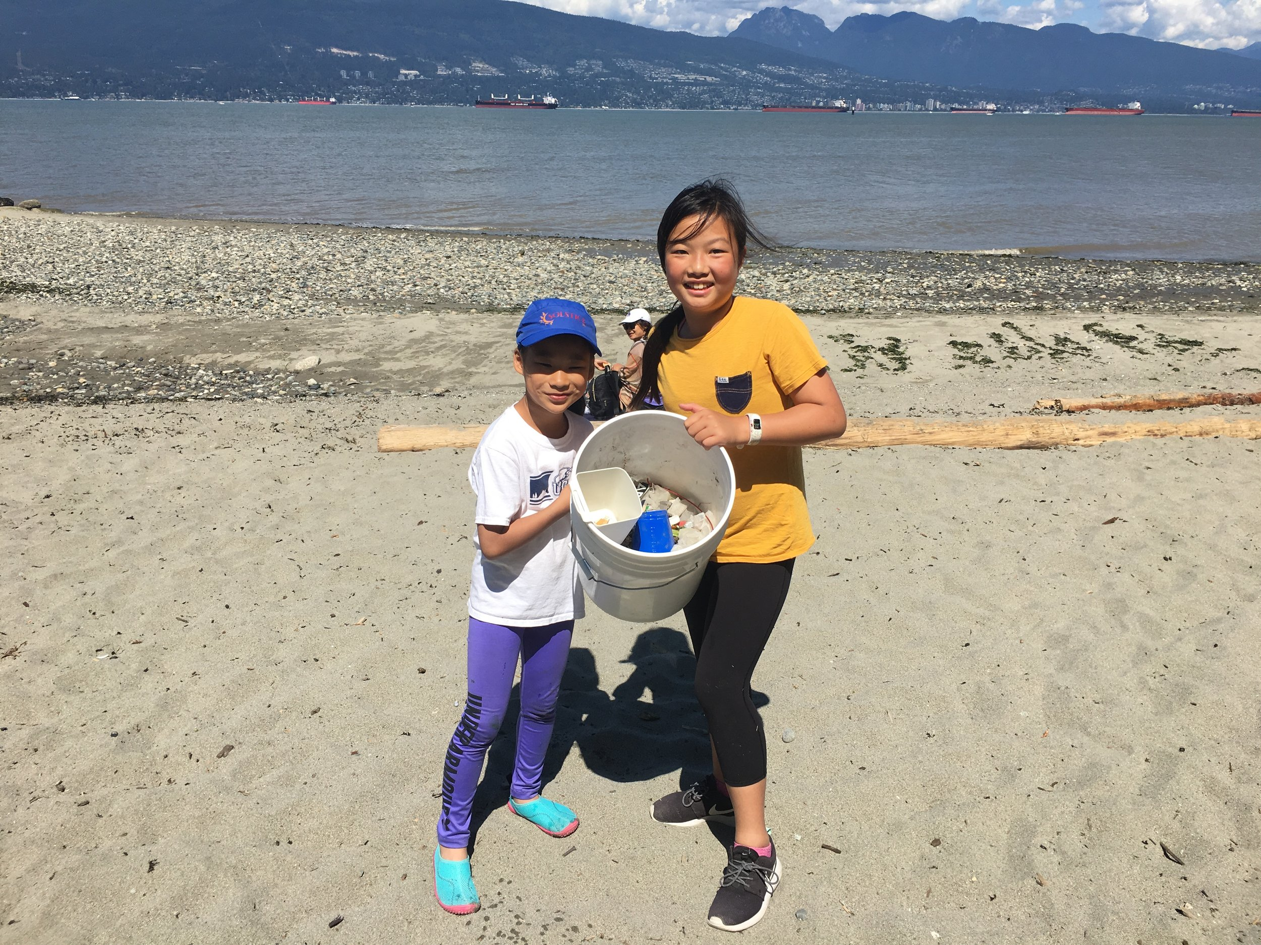 These students found the most garbage from our shoreline clean up.
