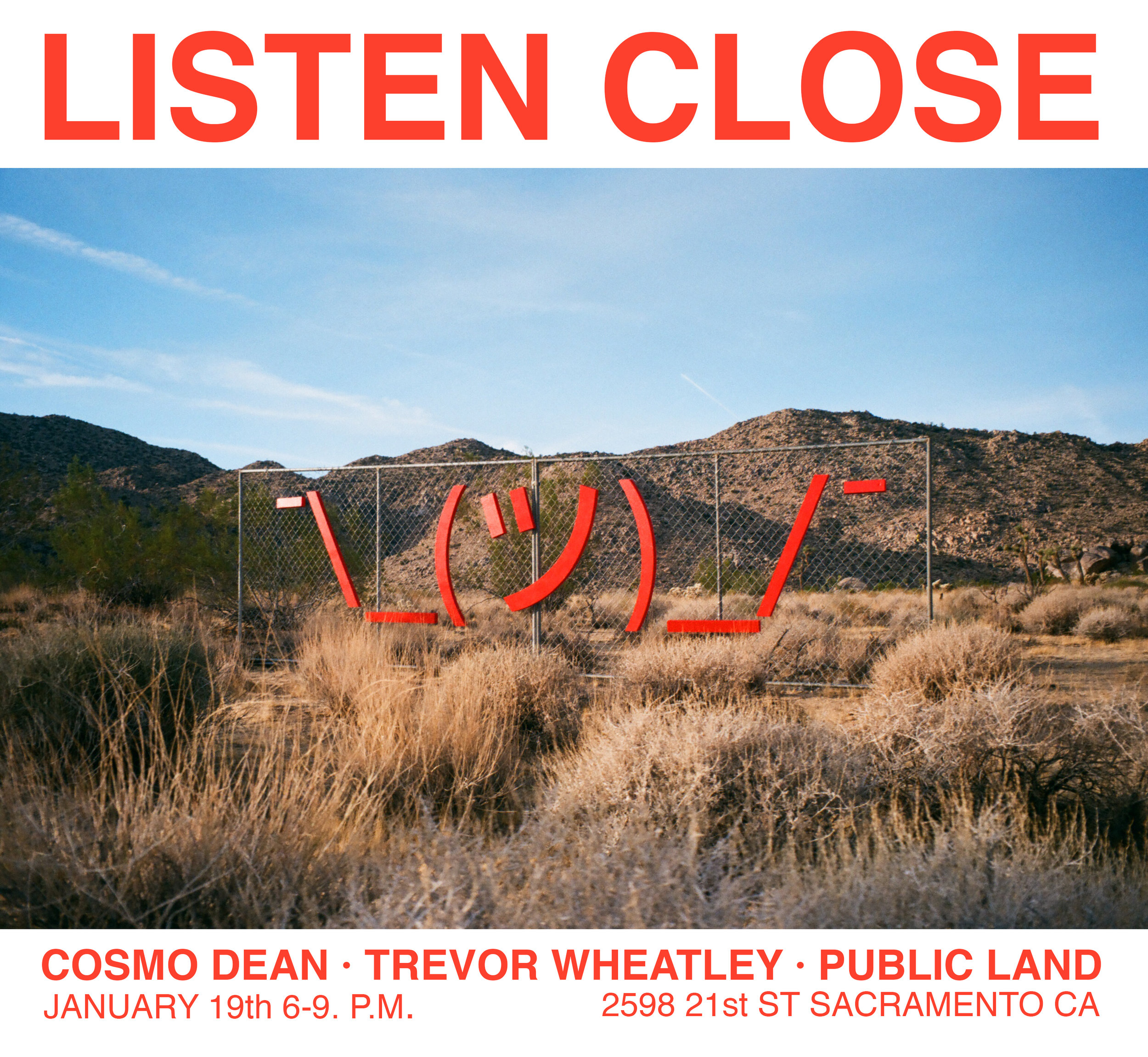 Trevor Wheatley and Cosmo Dean art exhibition at Public Land Gallery in Sacramento