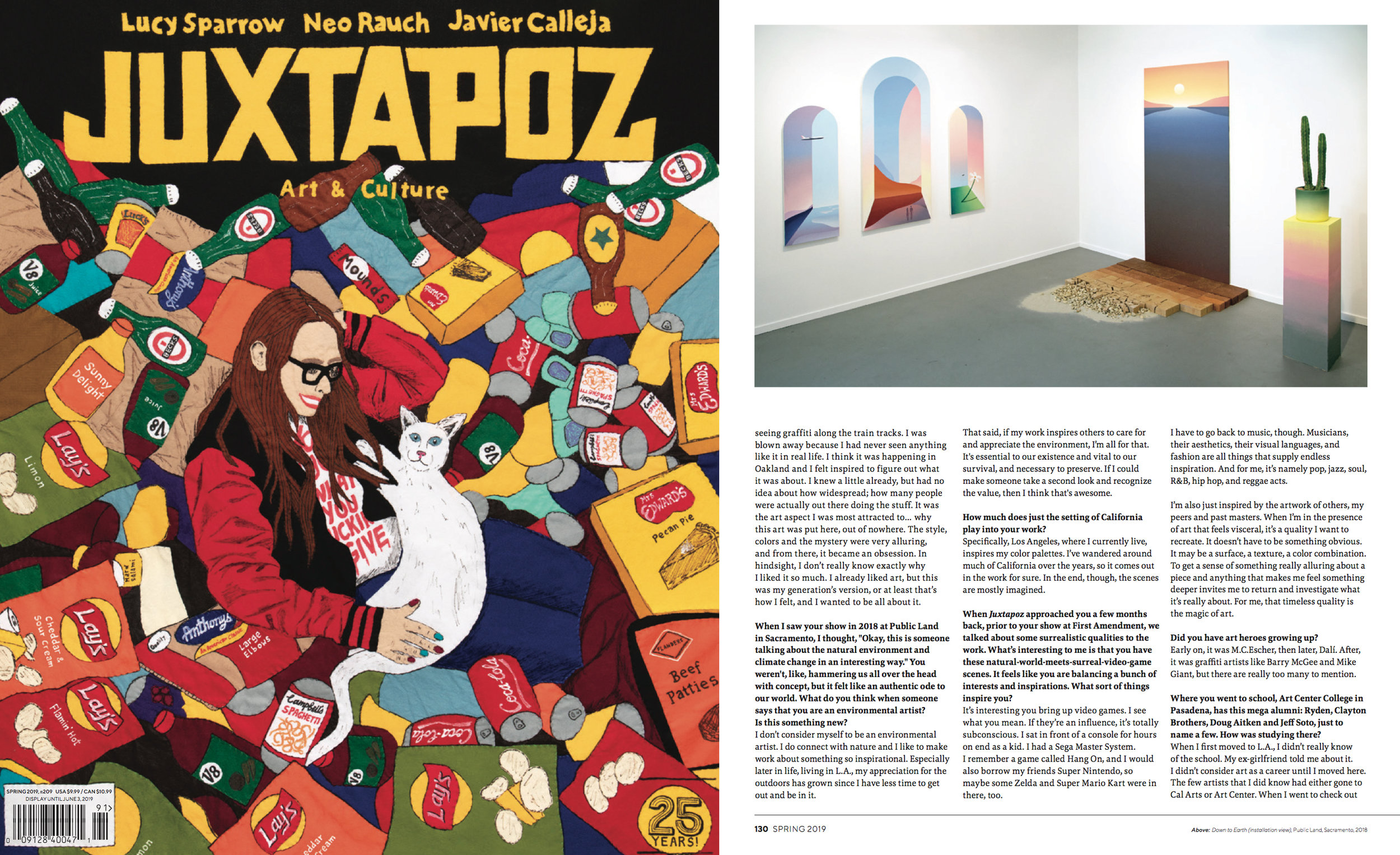 Public Land Store in Sacramento featured in Spring 2019 issue of Juxtapoz Magazine.