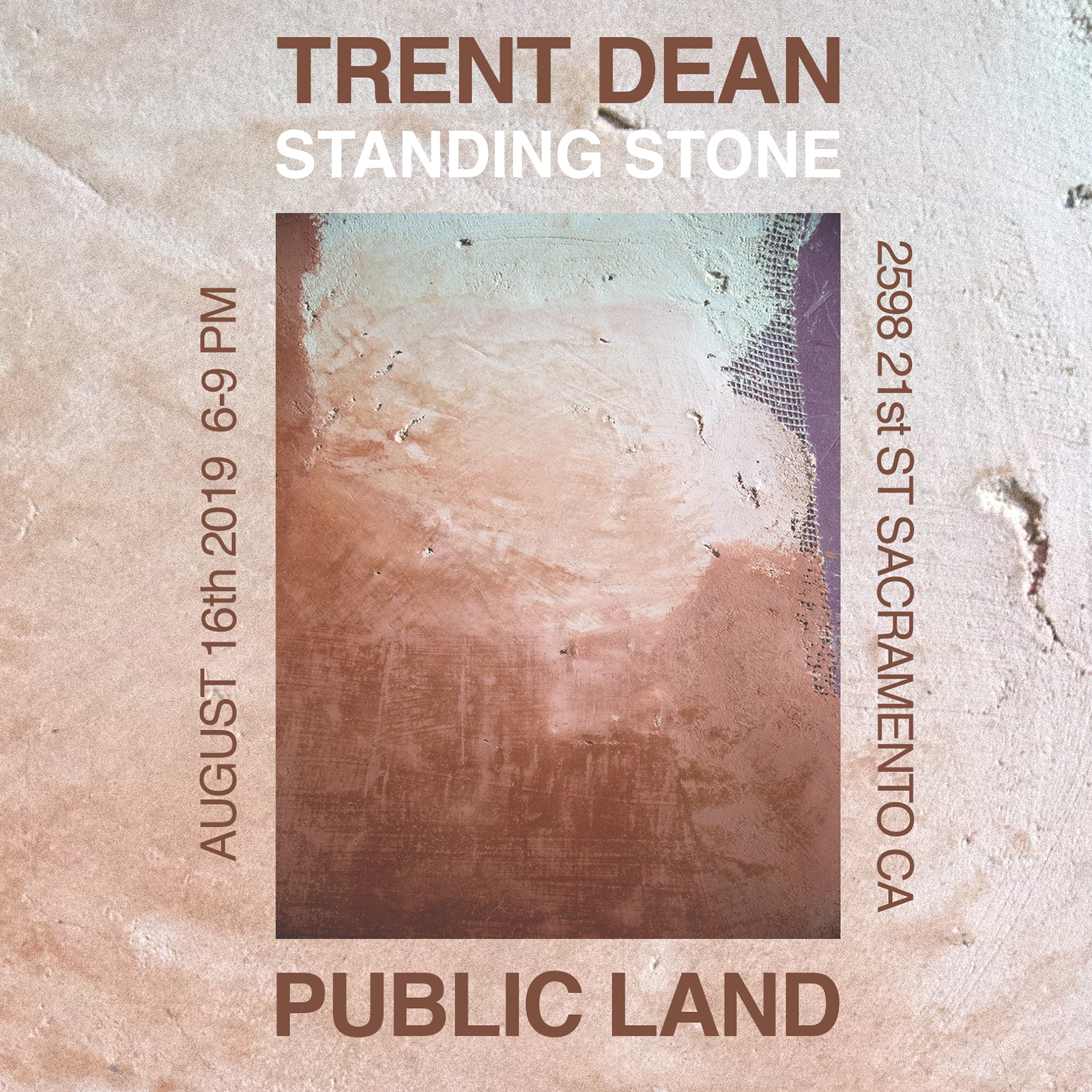 Trent Dean art exhibition at Public Land in Sacramento