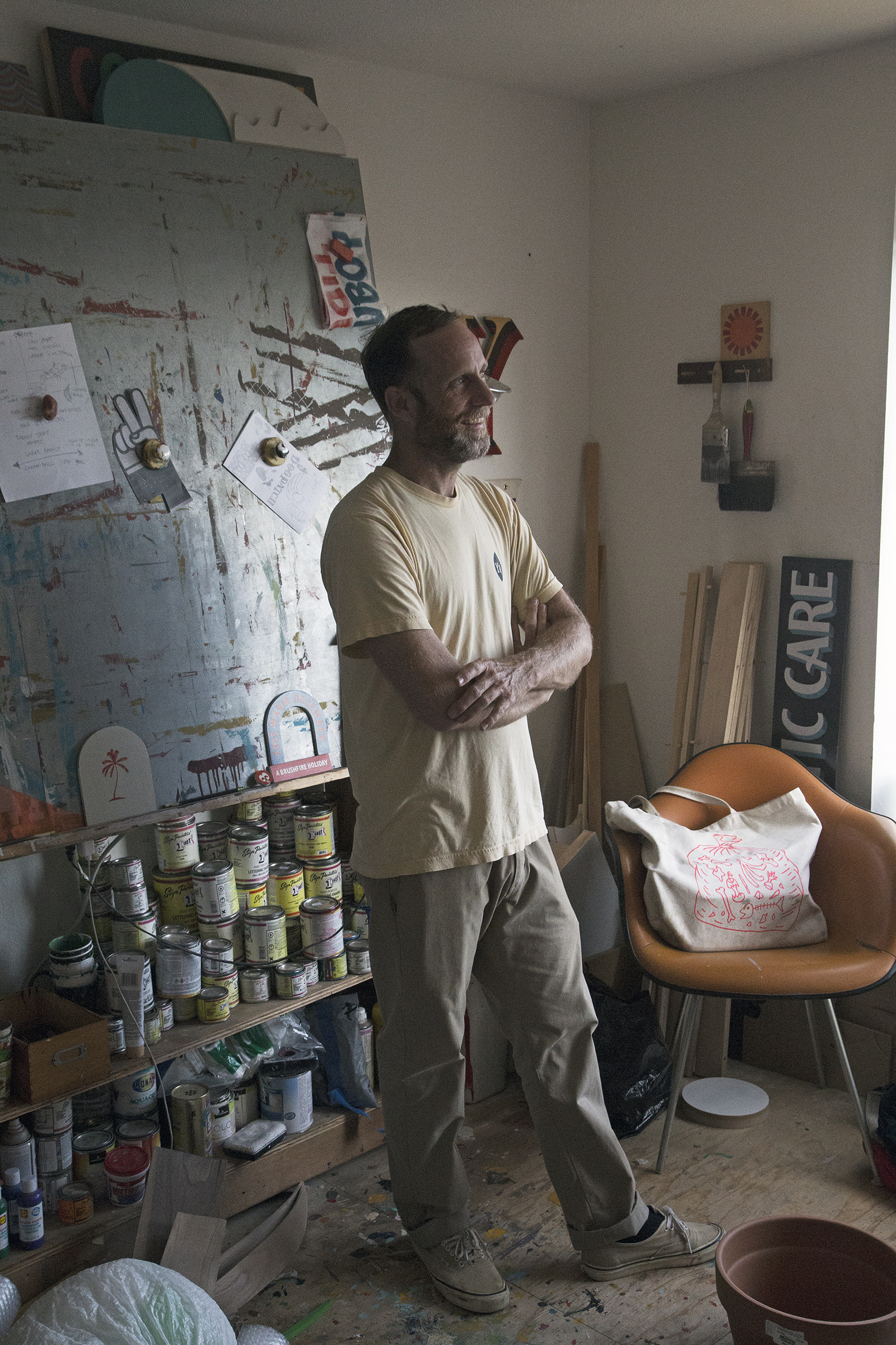 Jeff Canham in San Francisco studio