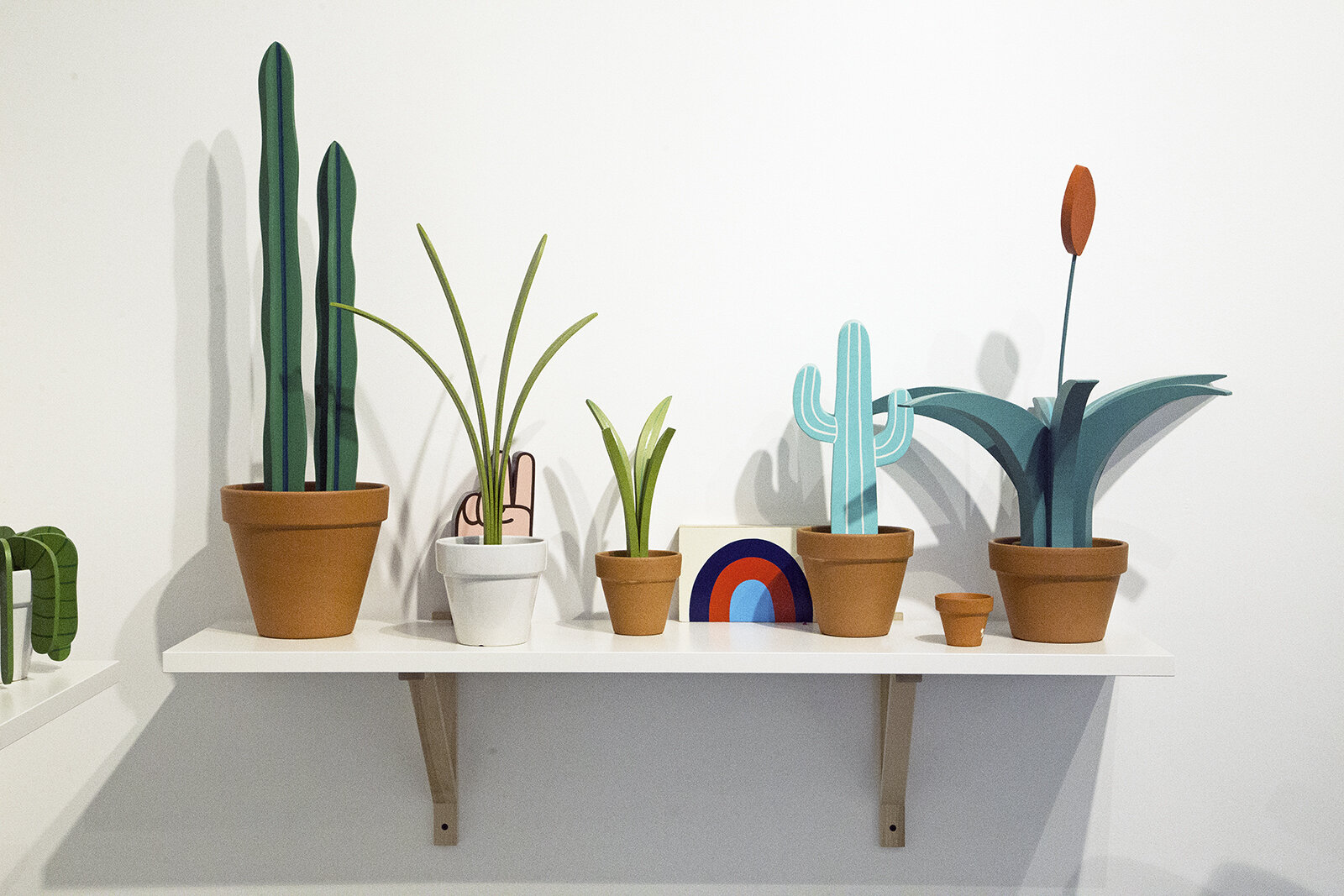 Fake plant sculptures by sign painter Jeff Canham