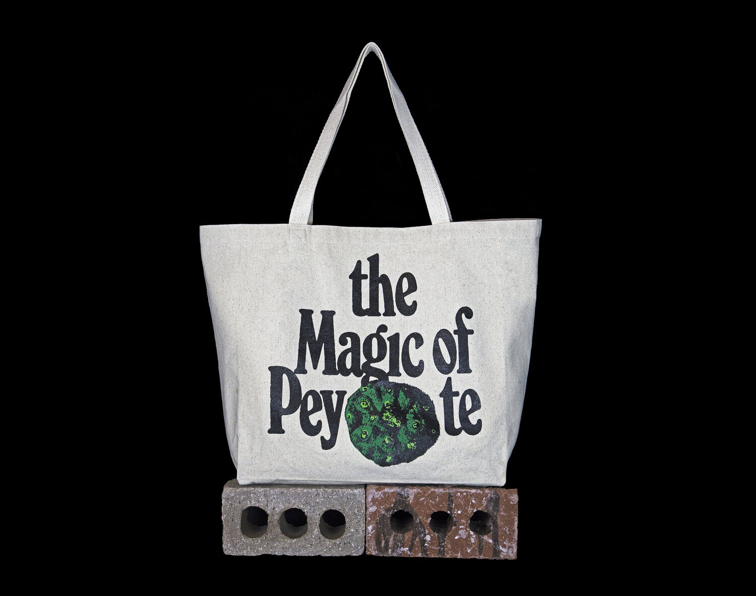 Peyote tote bag. Lophophora Williamsii