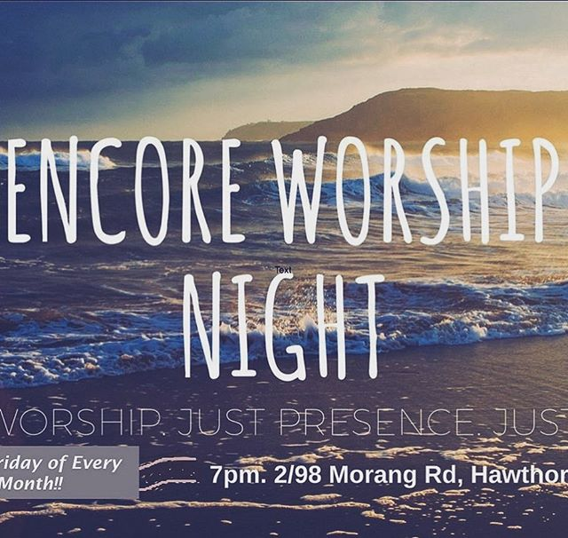 So pumped for THIS Friday - 2hours of powerhouse music, prayer, prophecy and all 'round good times in Jesus! 7-9pm - - - #communityoffaith #encorechurch #endofthebeginning #faithfulnessofgod #church #worship #worshipmusic #praise #praiseandworship #richmond #hawthorn #hawthornchurch #prayer #prophetic