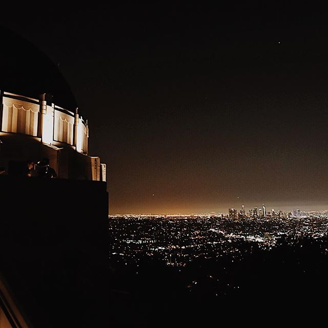 Griffith Observatory at closing time. One of my favorite views.