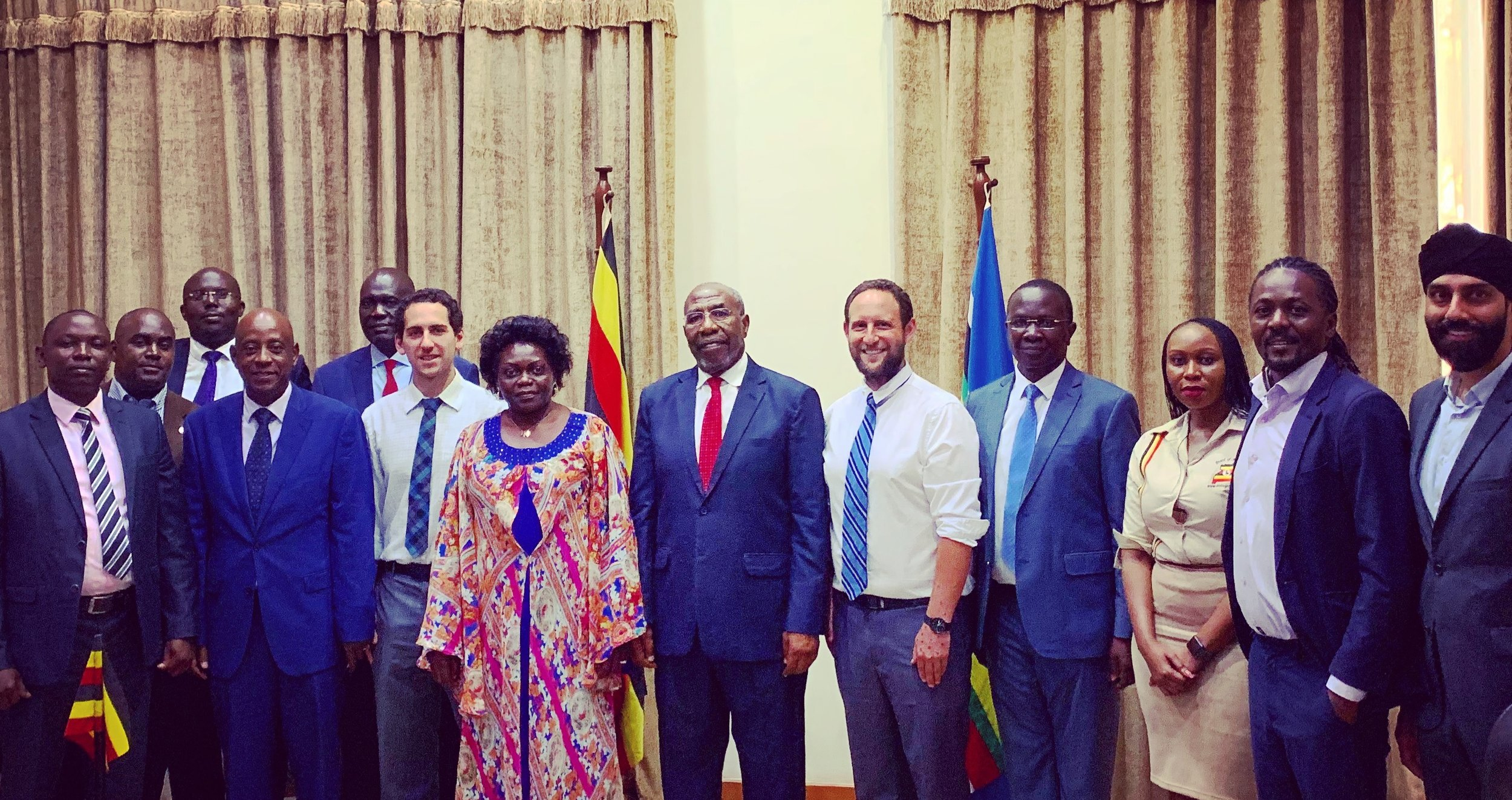 February 2019 meeting among the R.T. Honourable PM of Uganda, United in Film, Reel Impact Foundation, Bridge to Health, the Ministry of Health, the Ministry of Education, the Uganda Tourism Board, and the Ugandan Communications Commission.