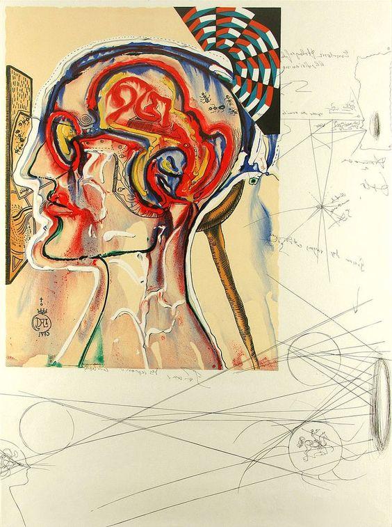 """""""Очки с Голограммами и Компьютерами для Просмотра Вымышленных Изображений"""" Сальвадор Дали,1975г."""