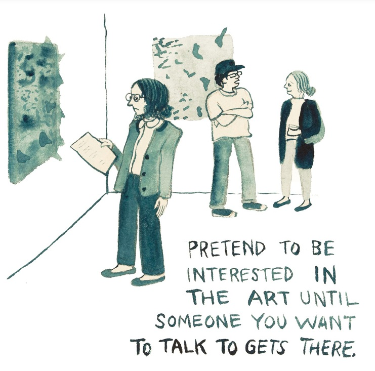 Social Strategies for Art Openings - For The New Yorker's Daily Shouts