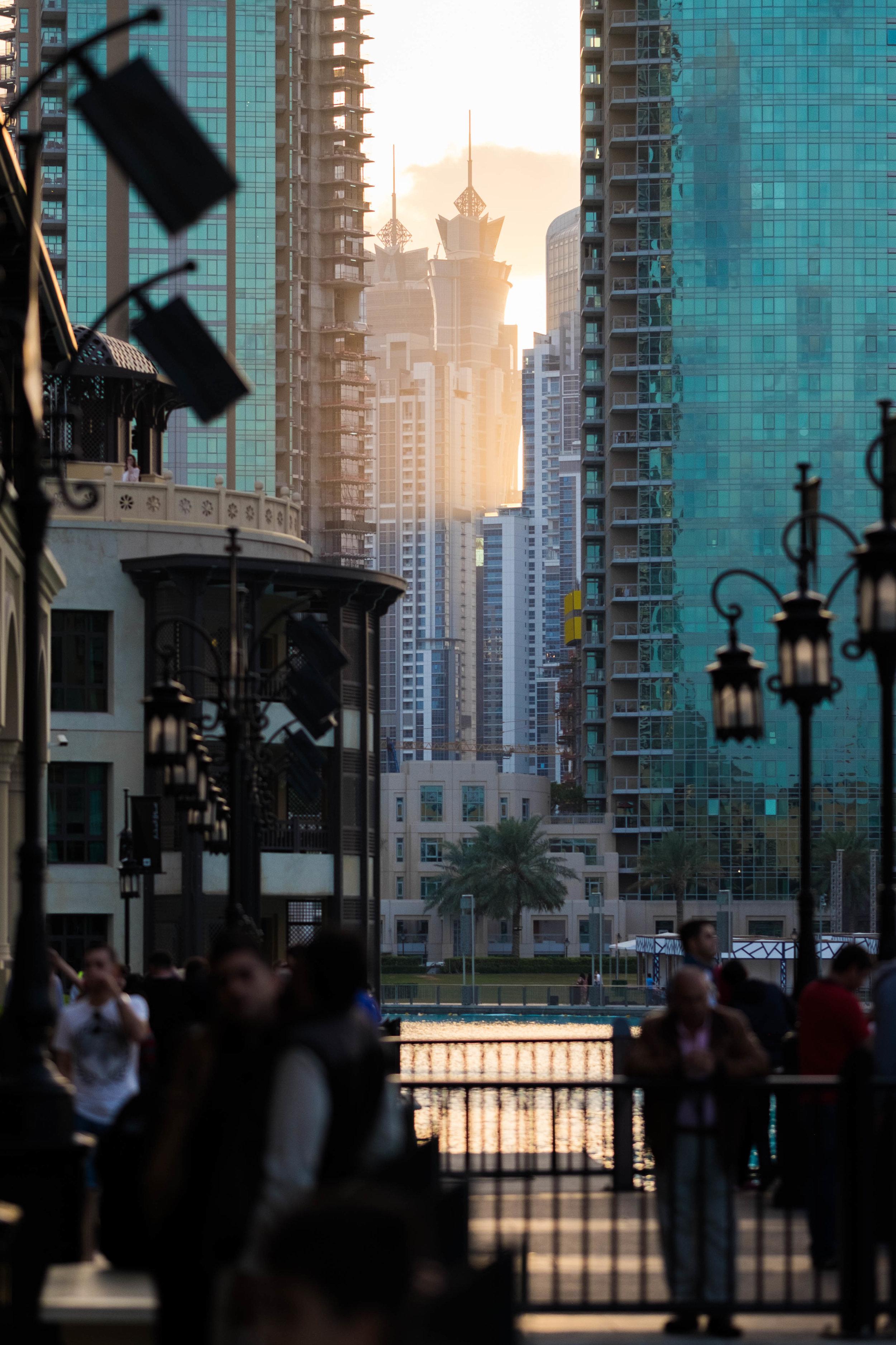 sunset in plastic city