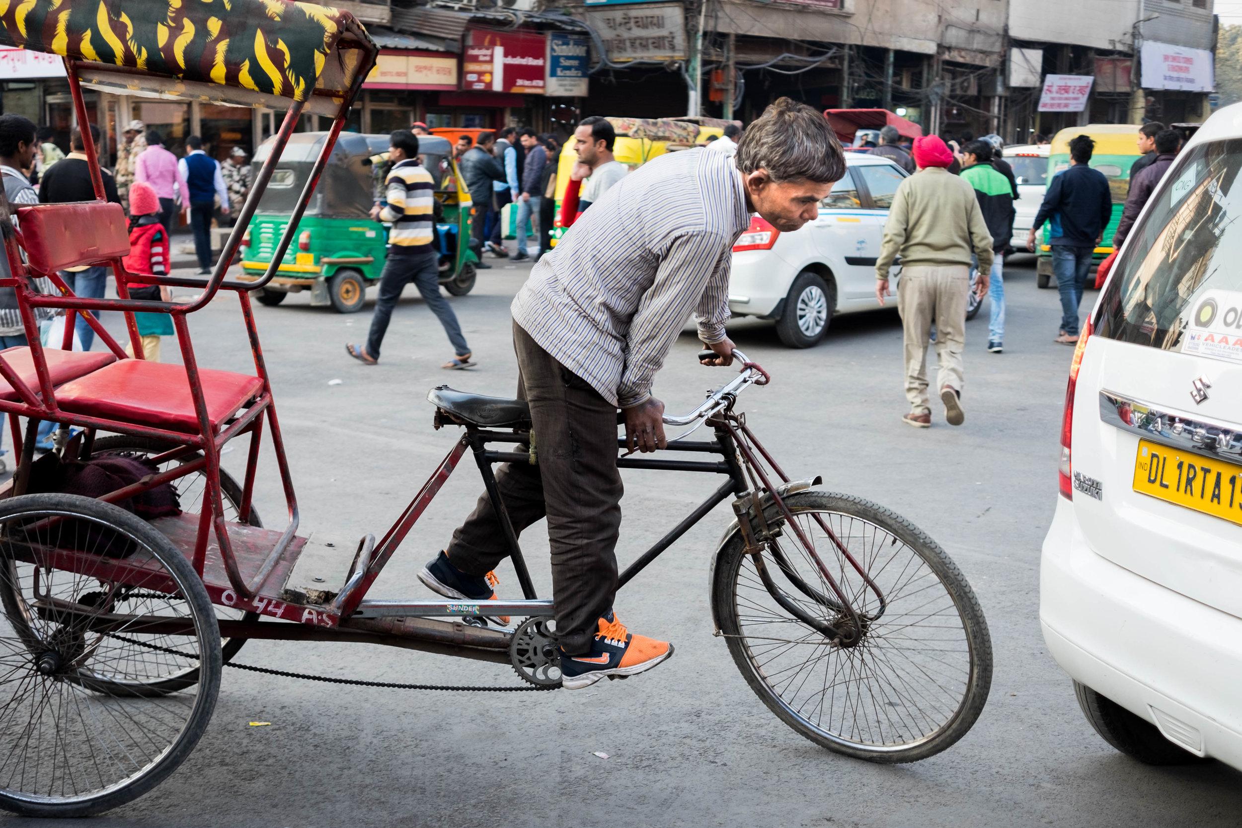 Rikschafahren in Delhi - eine Herausforderung