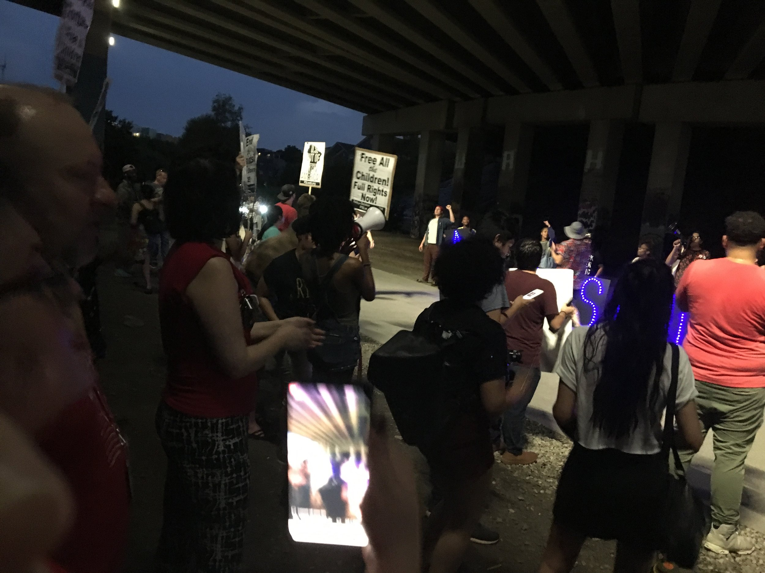 This was from a local Abolish ICE protest I went to on Saturday night