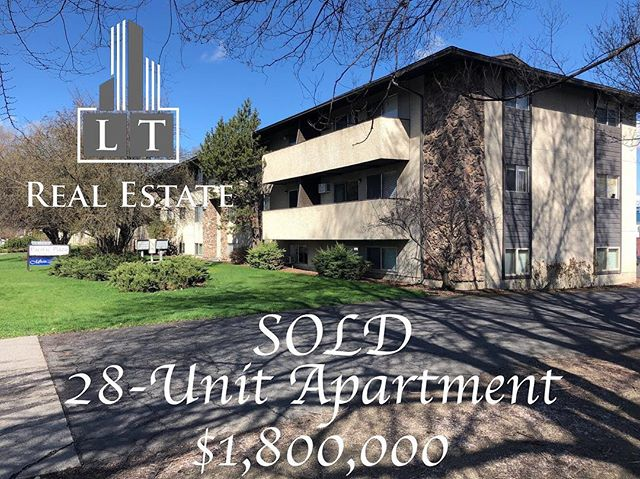 Ryan Towner and Dallas Lightner sold a 28-unit apartment for $1,800,000. Contact them for your real estate needs.