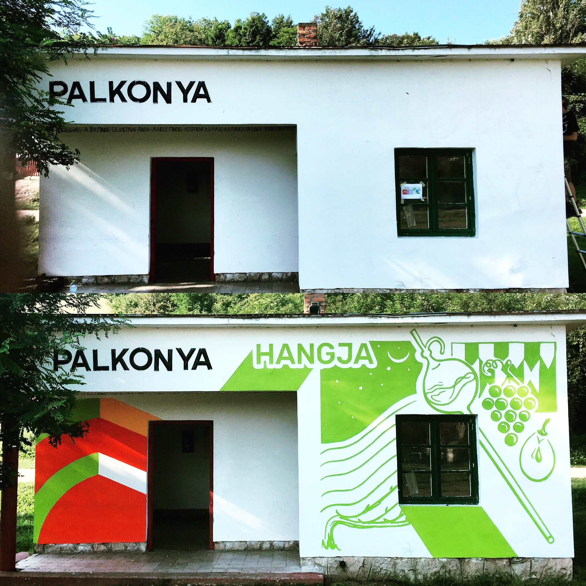 palkonya hangja vertigo murals dekorációs falfestés tűzfalfestés címfestés falfestmény