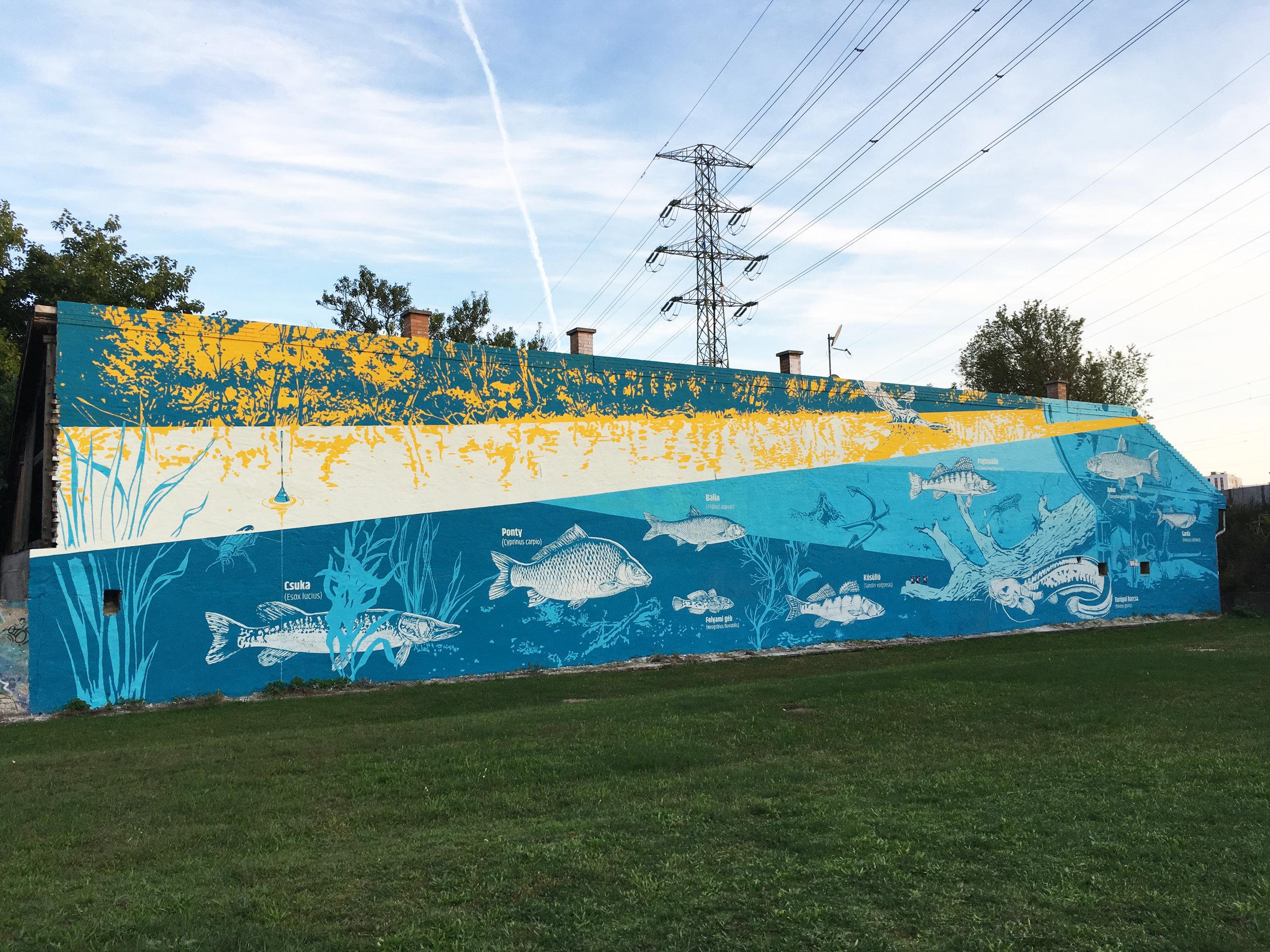 tűzfalfestmény tűzfalfestés tűzfal dekorációs falfestés falfestmény címfestés vertigo vertigo murals