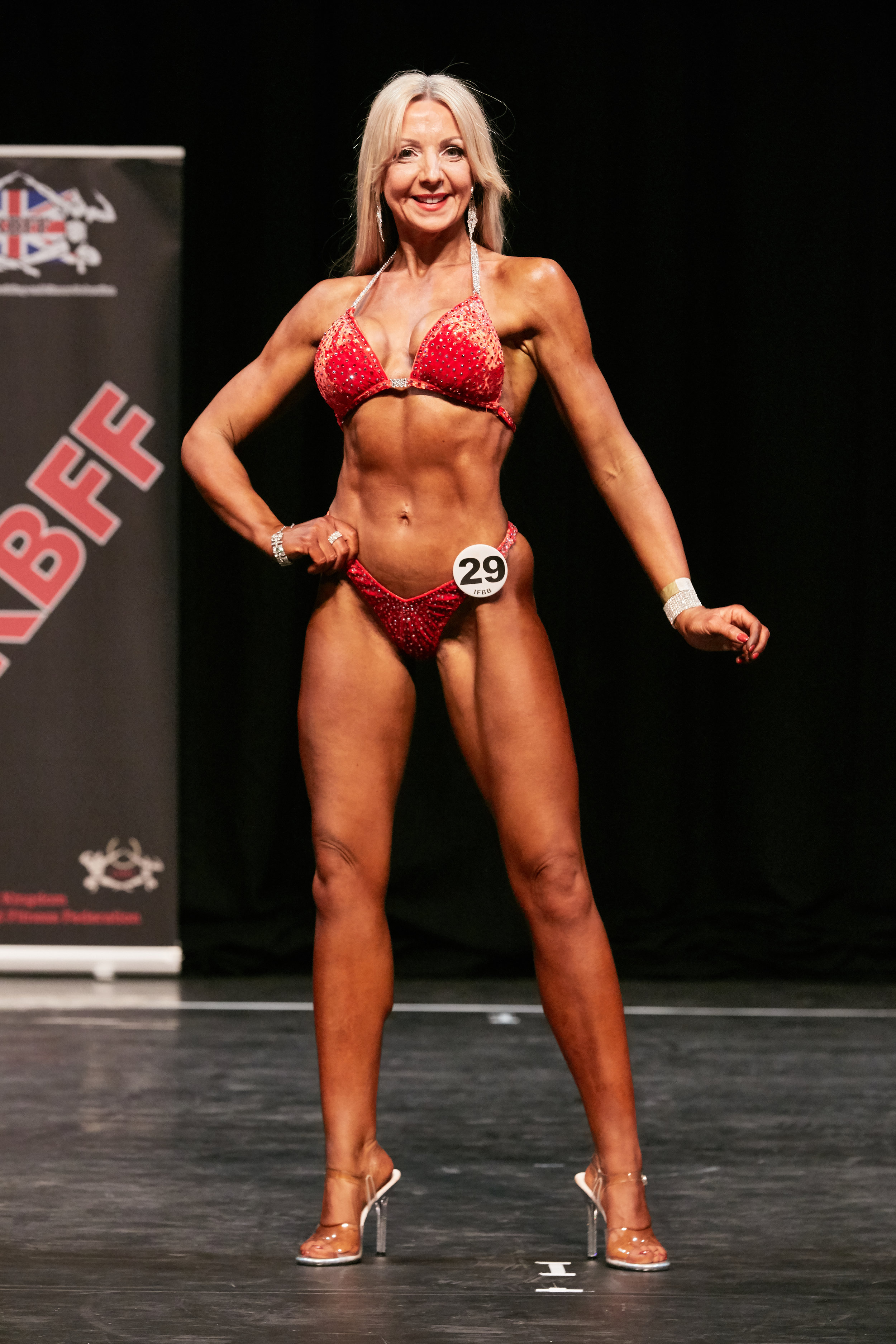 Clare on stage at the UK Nationals. PHOTO by Christopher Bailey.