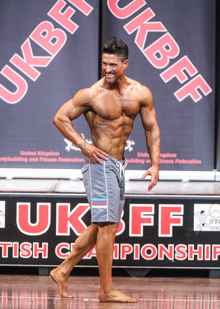 Men's physique posing should look relaxed and effortless. PHOTO by Christopher Bailey.