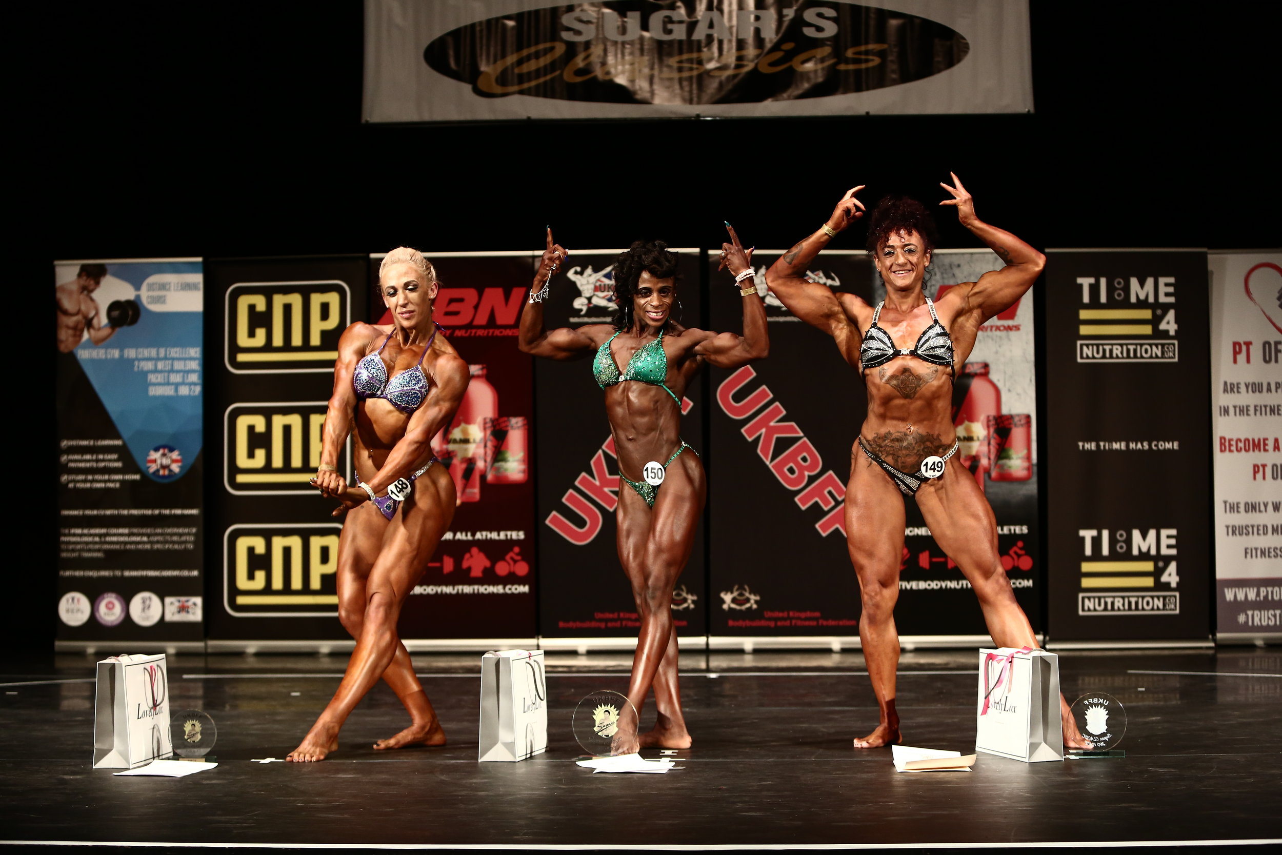Winning women's physique at last year's Sugar Classic in Leicester. PHOTO: Simon Howard