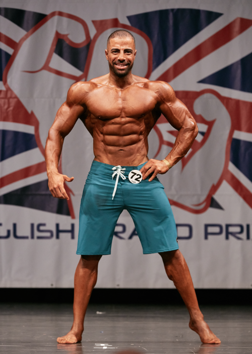 Mahmoud Elmawardy hopes to win yet more silverware in muscular men's physique. PHOTO: by Christopher Bailey