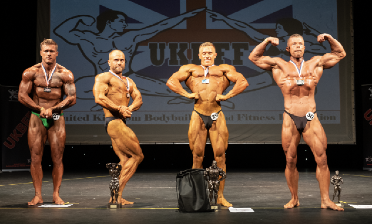 The middleweight bodybuilding top four. PHOTO: by Kevin Horton.