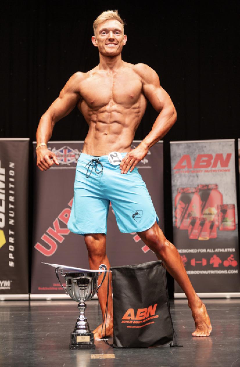 Junior men's physique winner Mitch Allmark. PHOTO: Kevin Horton
