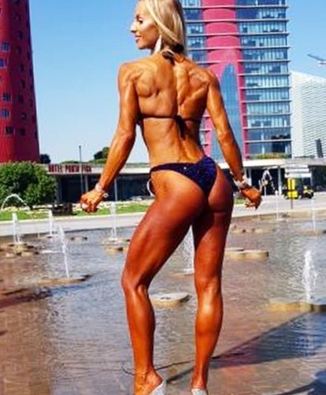 Becky Goodall, who made the top 10 in masters bikini fitness