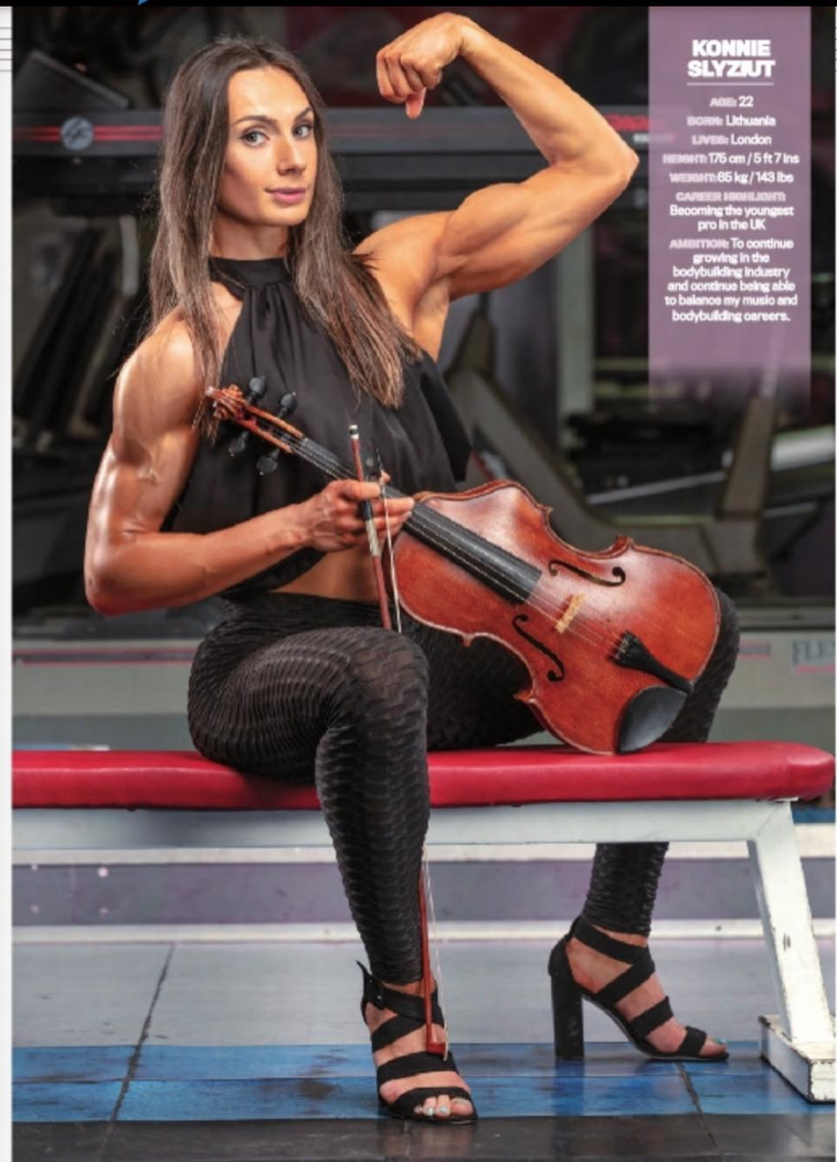 British IFBB Elite Pro Konnie Slyziut in the latest edition of Muscle & Health, the official IFBB magazine.