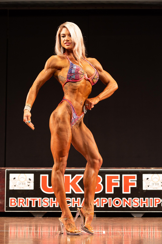 British bodyfitness champion Kristie Sanderson.