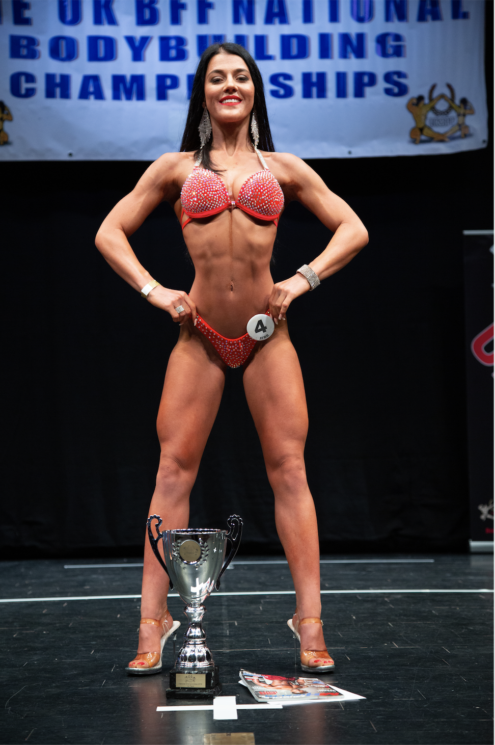 Rising star Sophie Gallagher, who won junior bikini fitness and her height class.