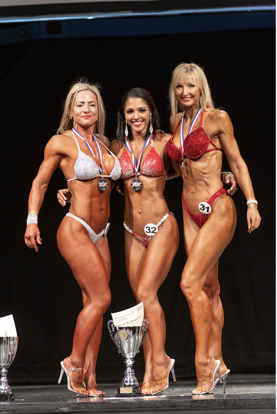 Martine Warmann wins masters bikini fitness.