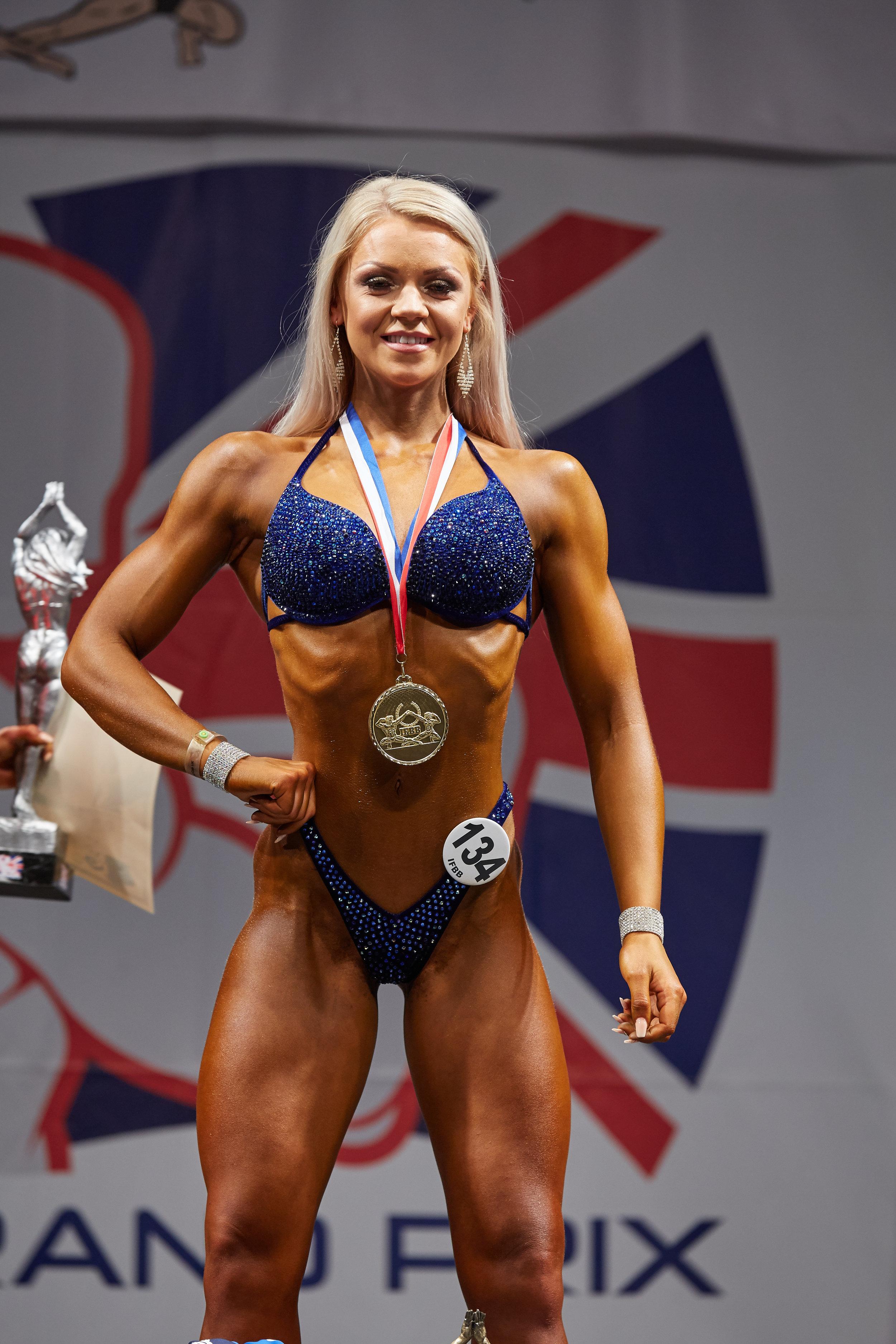 Ashleigh Jackson, overall bikini fitness champion.