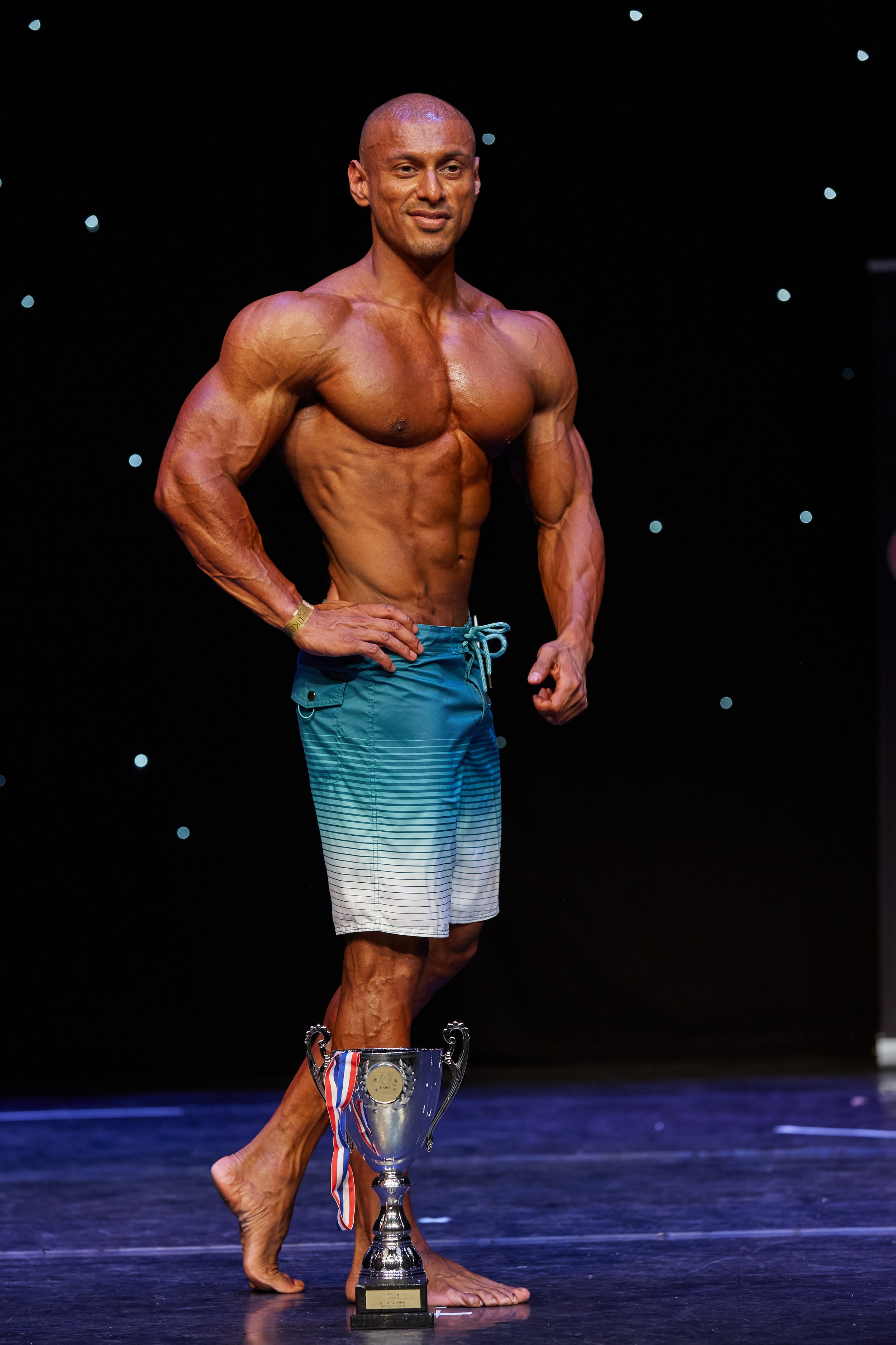 Miz Rahman wins muscular men's physique.